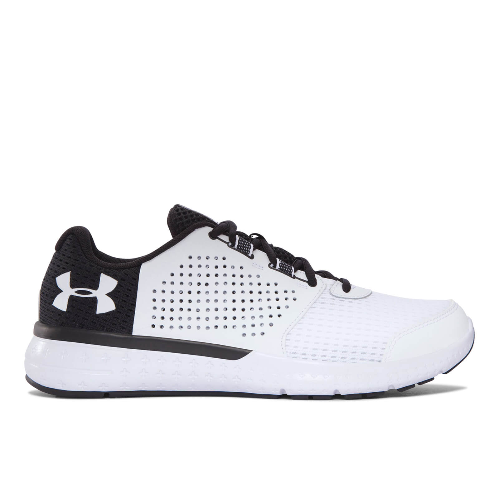 best sneakers ac7be 80d5e Under Armour Men's Micro G Fuel Running Shoes - White/Black