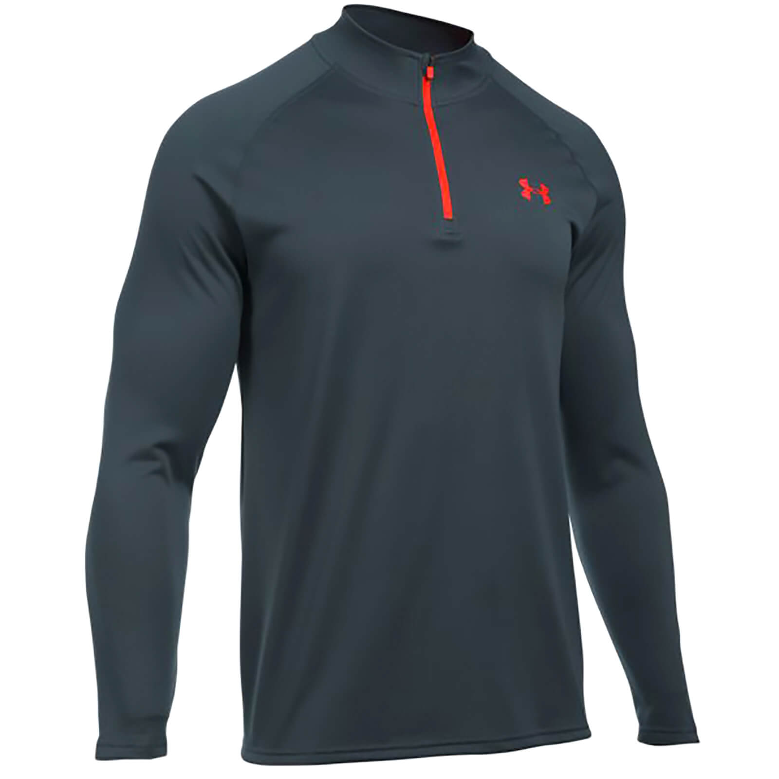 2b8cac9e6 Under Armour Men's Tech 1/4 Zip Long Sleeve Top - Stealth Grey/Phoenix Fire  | ProBikeKit.com