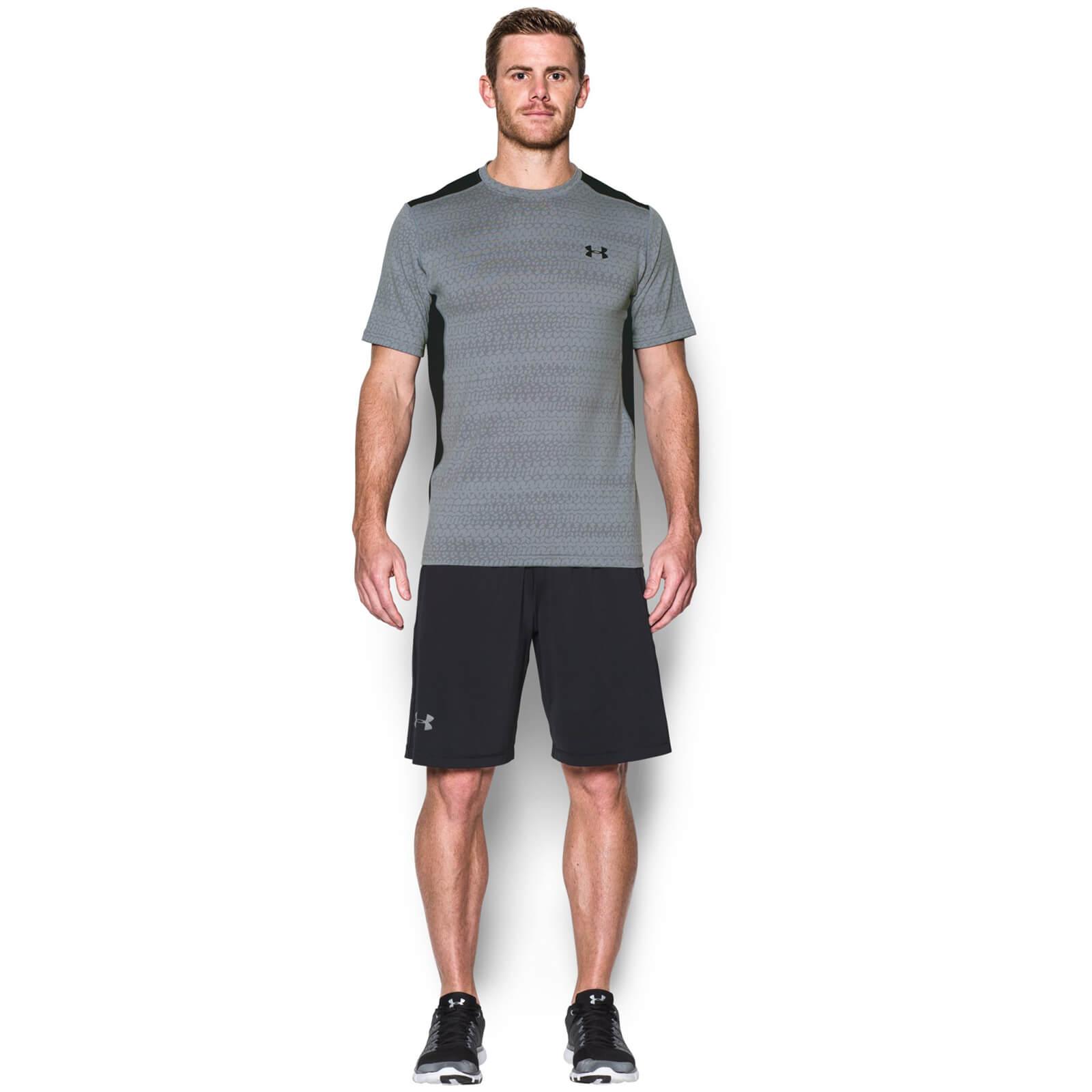 f8a3aedd Under Armour Men's Raid Jacquard T-Shirt - Steel/Graphite Sports & Leisure  | TheHut.com