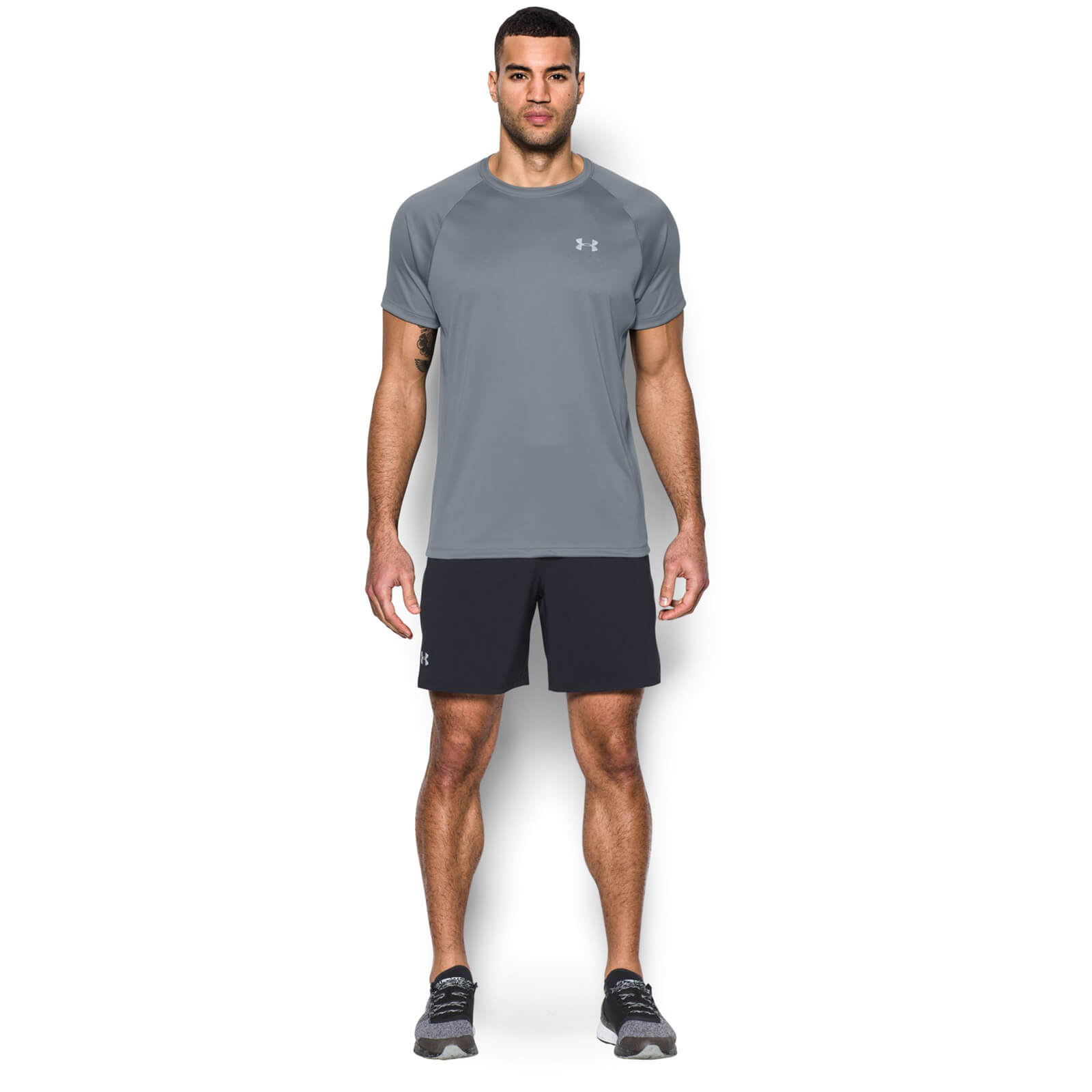 b5d27415 Under Armour Men's Speed Stride Run T-Shirt - Steel Sports & Leisure |  TheHut.com