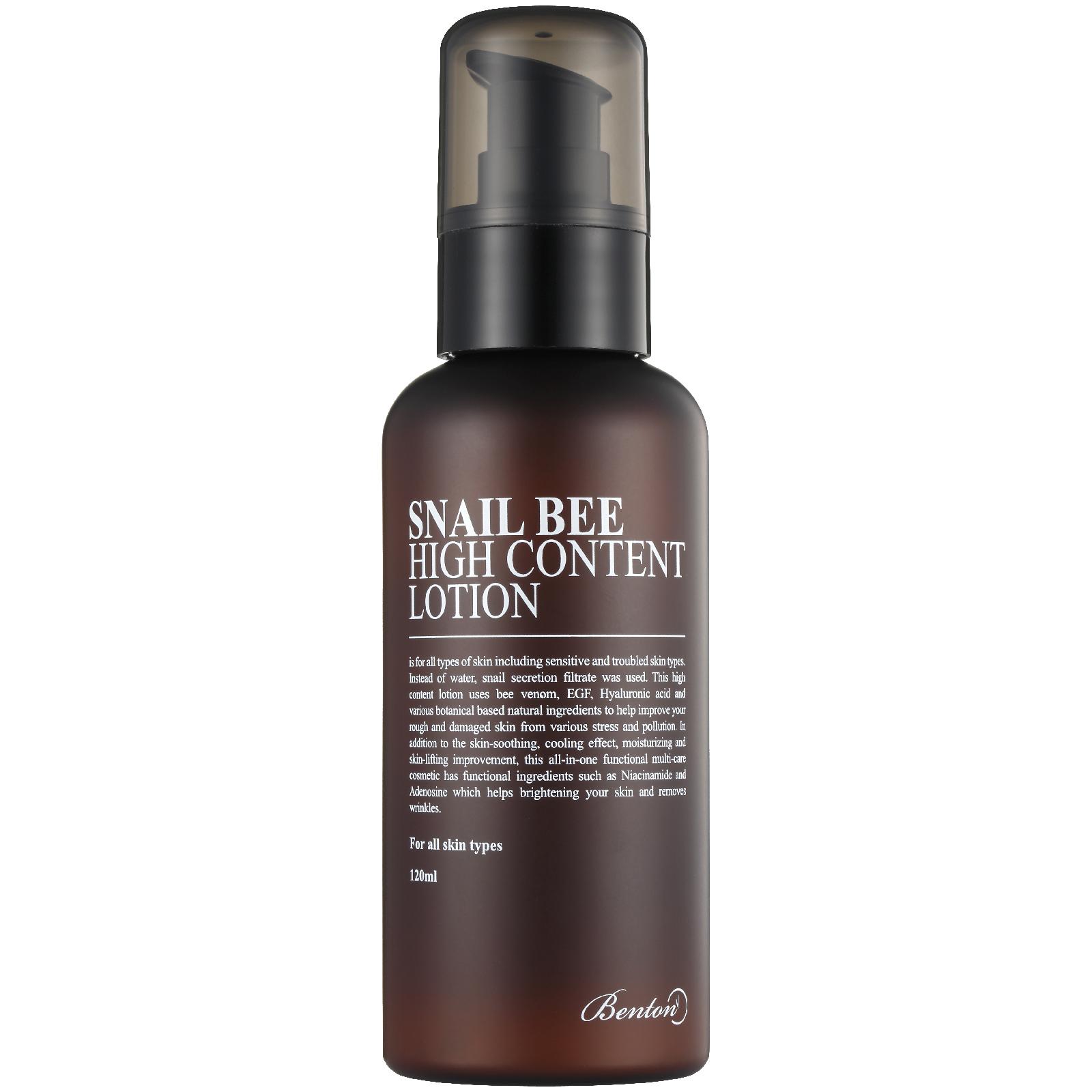 Benton Snail Bee High Content Lotion 120ml | Free Shipping | Lookfantastic