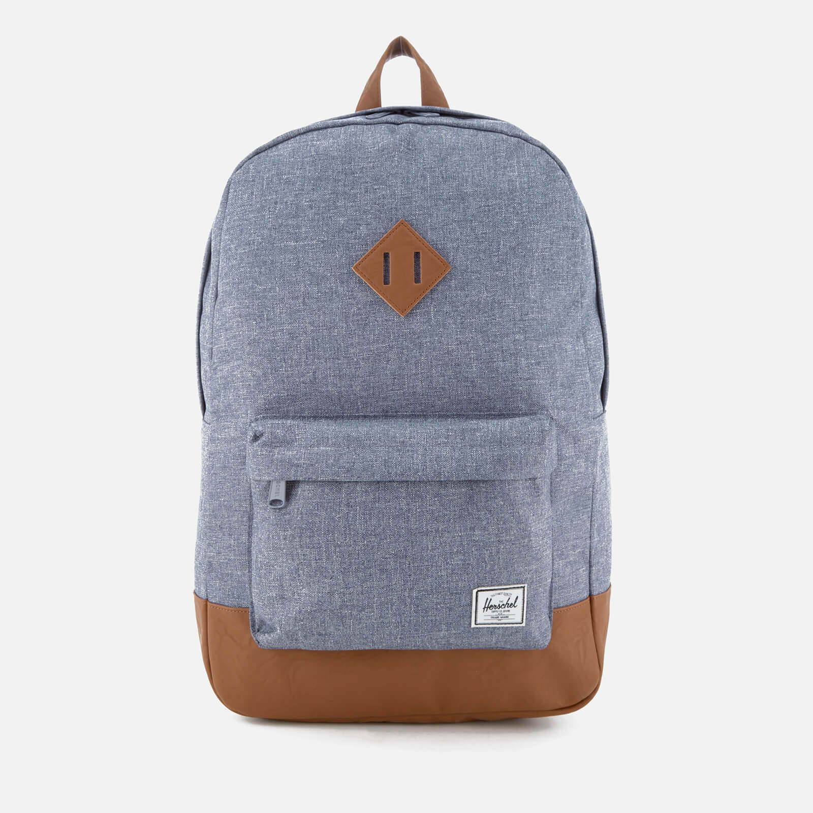 d893ce8b805 Herschel Supply Co. Heritage Backpack - Dark Chambray Crosshatch/Tan  Synthetic Leather - Free UK Delivery over £50