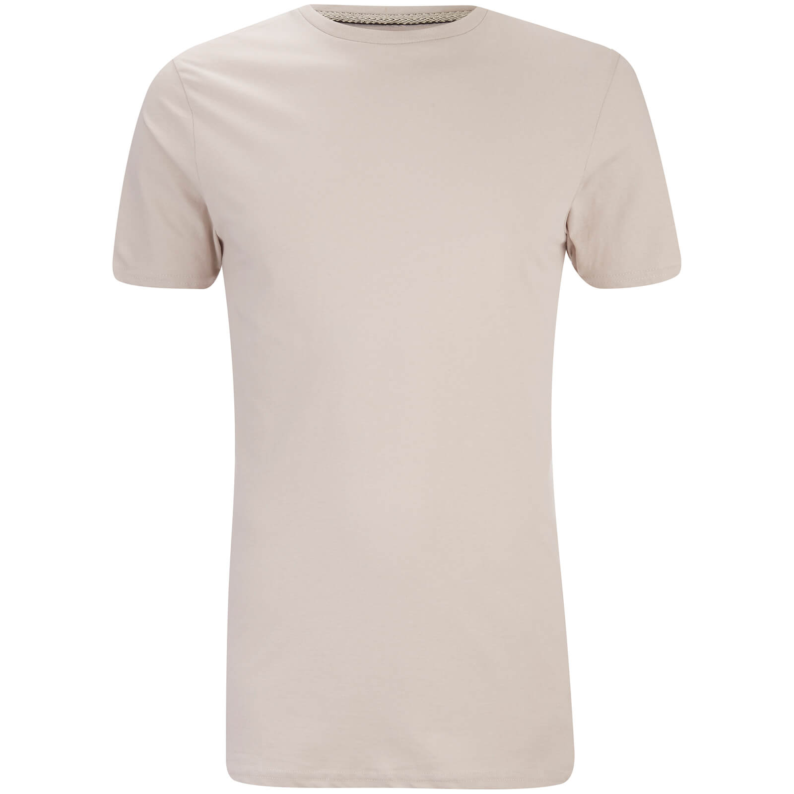 T-Shirt Homme Max Long Line Threadbare -Beige