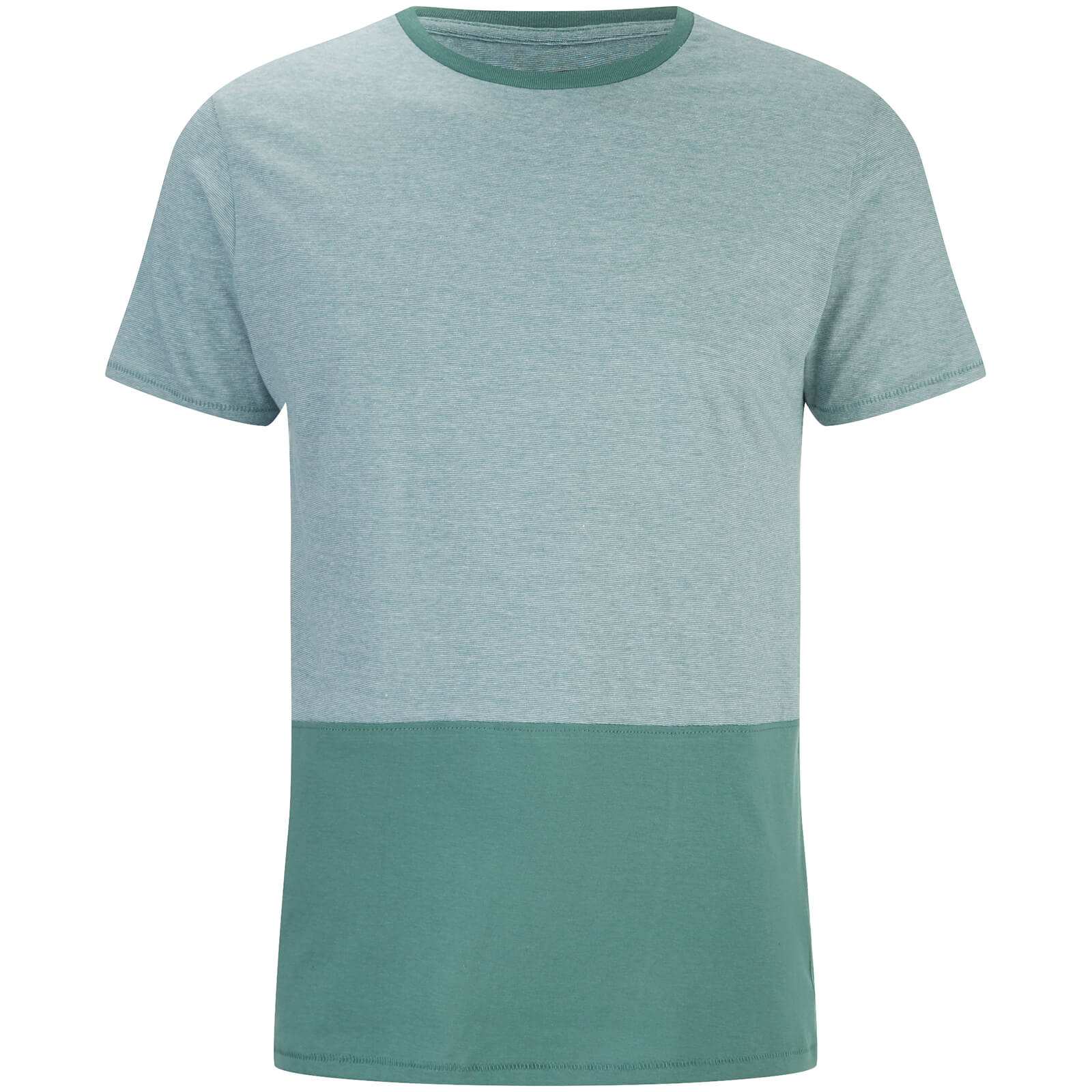 T-Shirt Homme Corning Panel Threadbare -Vert d