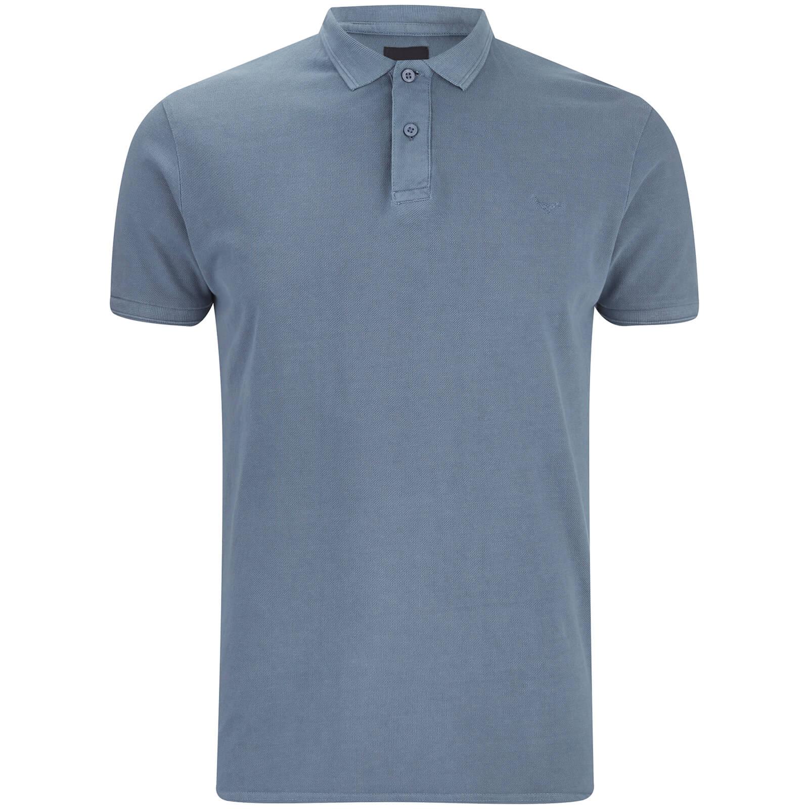 Threadbare Men s Kerman Polo Shirt - Denim Clothing  0633140d799