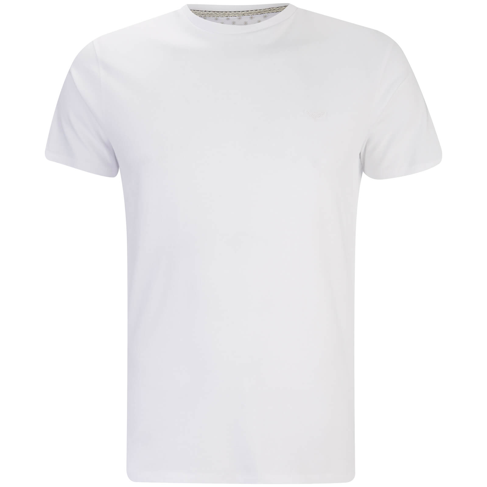 T-Shirt Homme William Col Rond Threadbare -Blanc