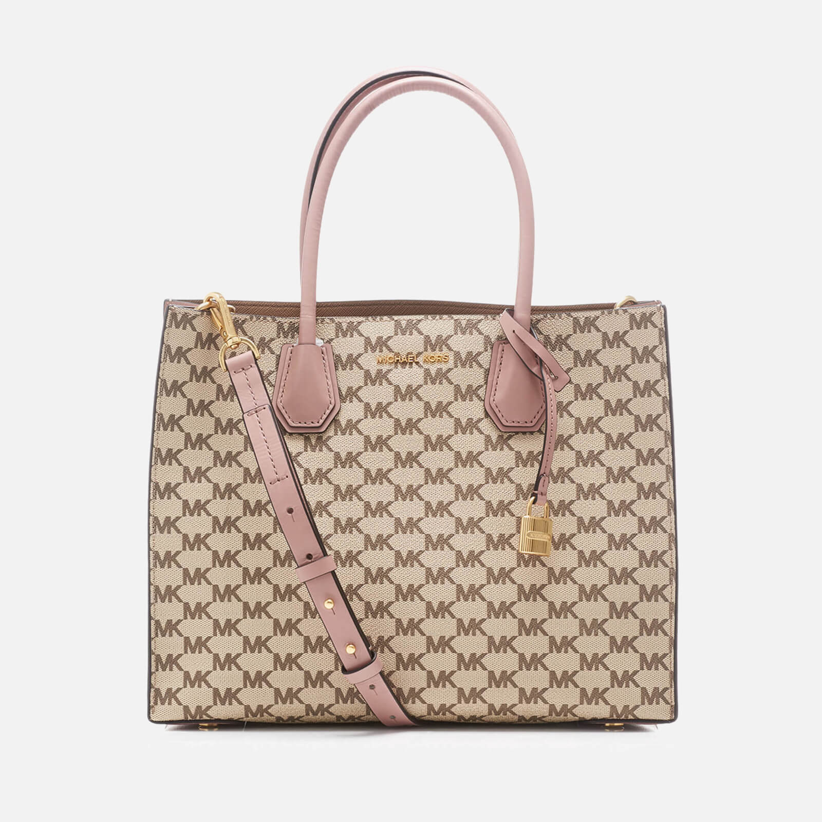 5d646b3a2d85 MICHAEL MICHAEL KORS Women's Mercer Large Convertible Tote Bag -  Natural/Fawn - Free UK Delivery over £50