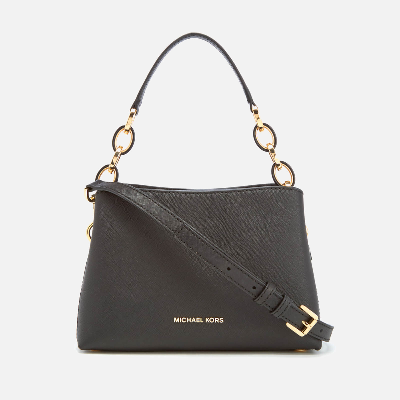7ed9e28a760e87 MICHAEL MICHAEL KORS Women's Portia Small Shoulder Bag - Black - Free UK  Delivery over £50