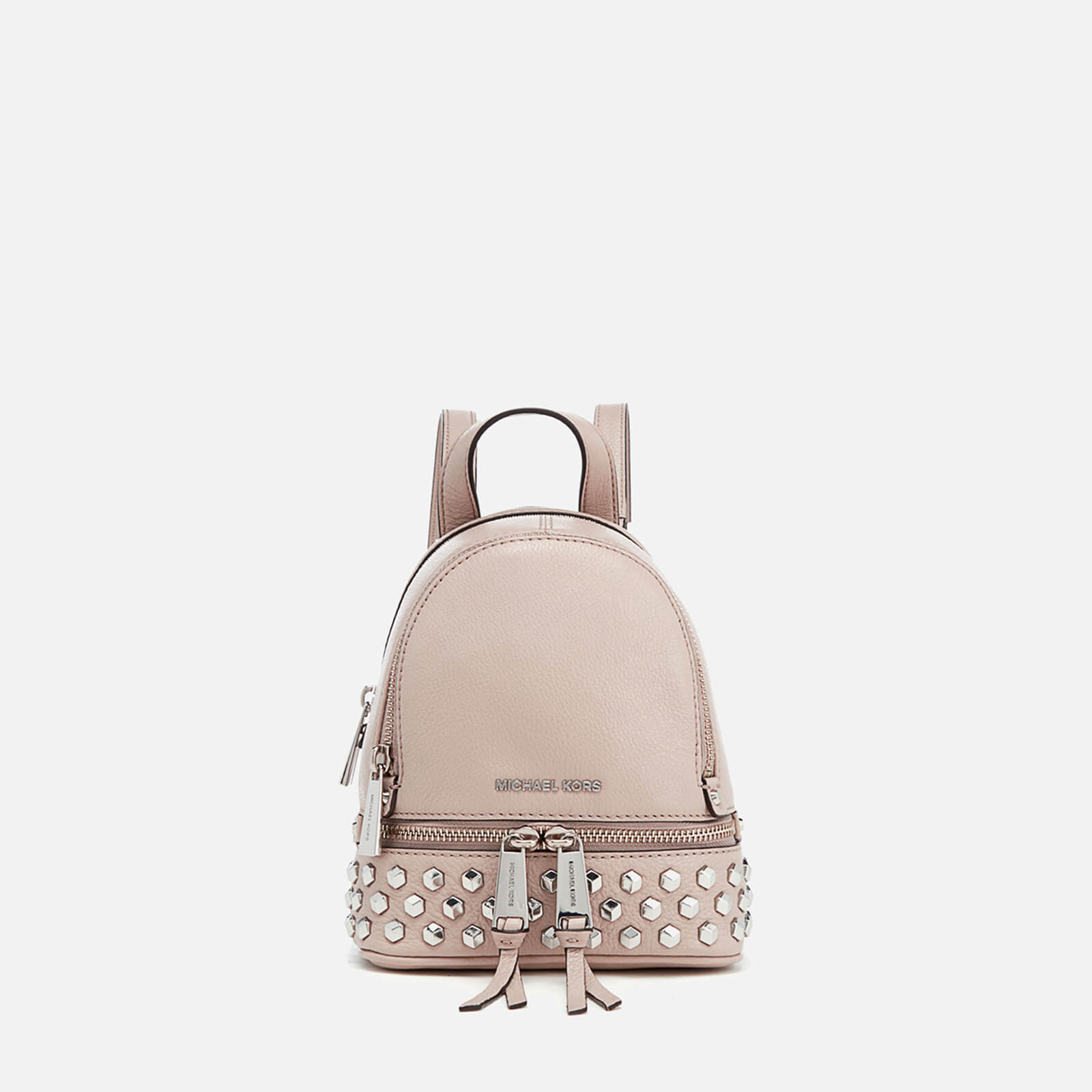 fb31f4834492 MICHAEL MICHAEL KORS Women s Rhea Zip Studded XS Messenger Backpack - Cement  - Free UK Delivery over £50