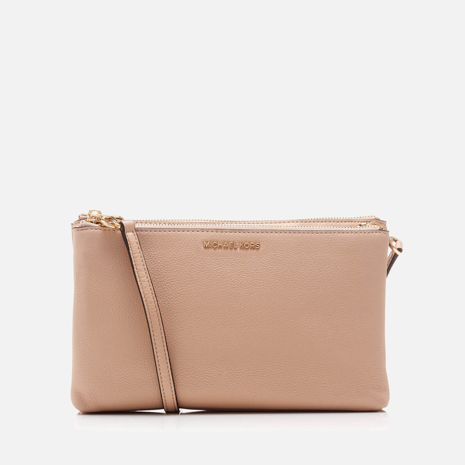 32426f27e677 MICHAEL MICHAEL KORS Women's Adele Double Gusset Cross Body Bag - Oyster -  Free UK Delivery over £50