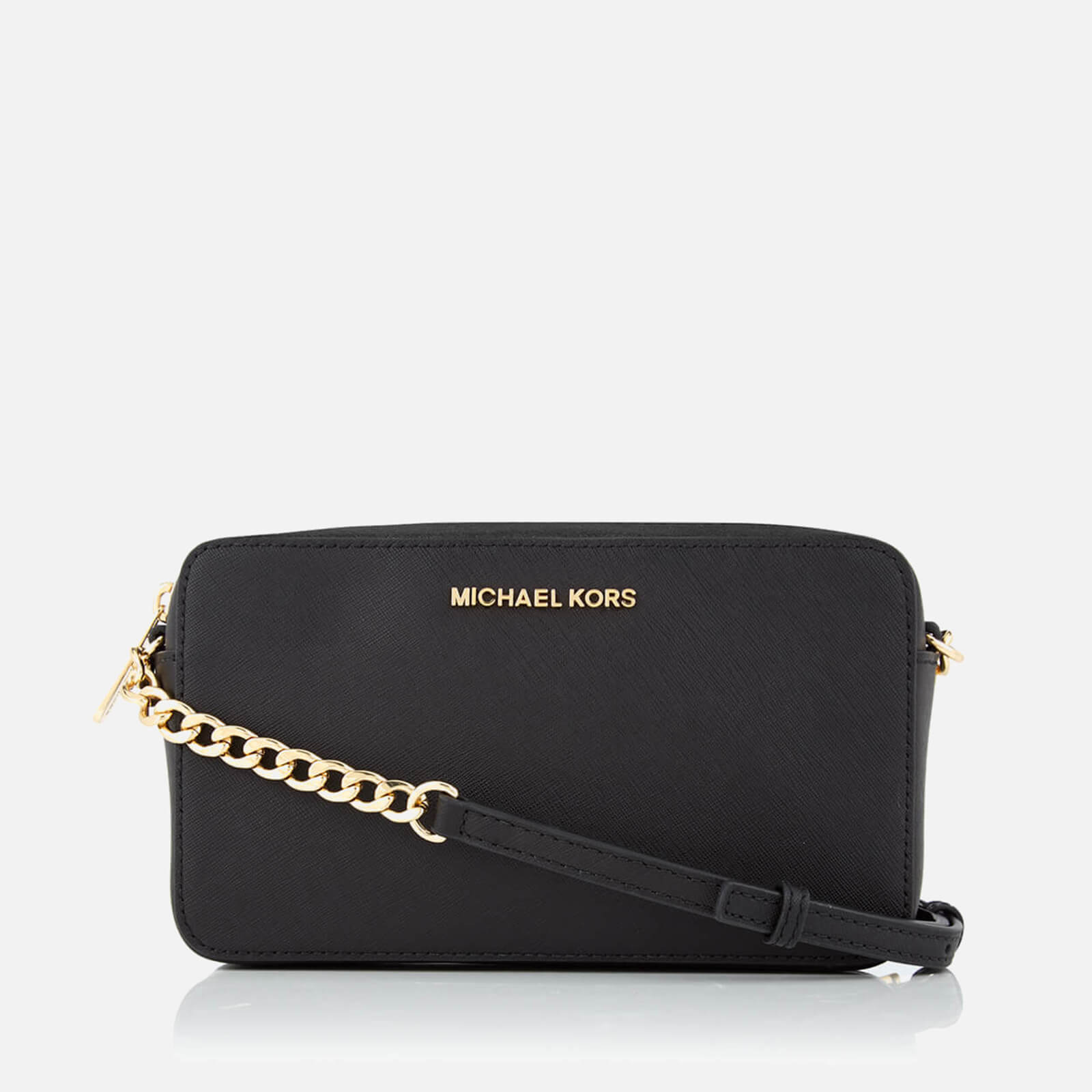 f3ca7e5c3633 MICHAEL MICHAEL KORS Women s Jet Set Travel Medium East West Cross Body Bag  - Black - Free UK Delivery over £50