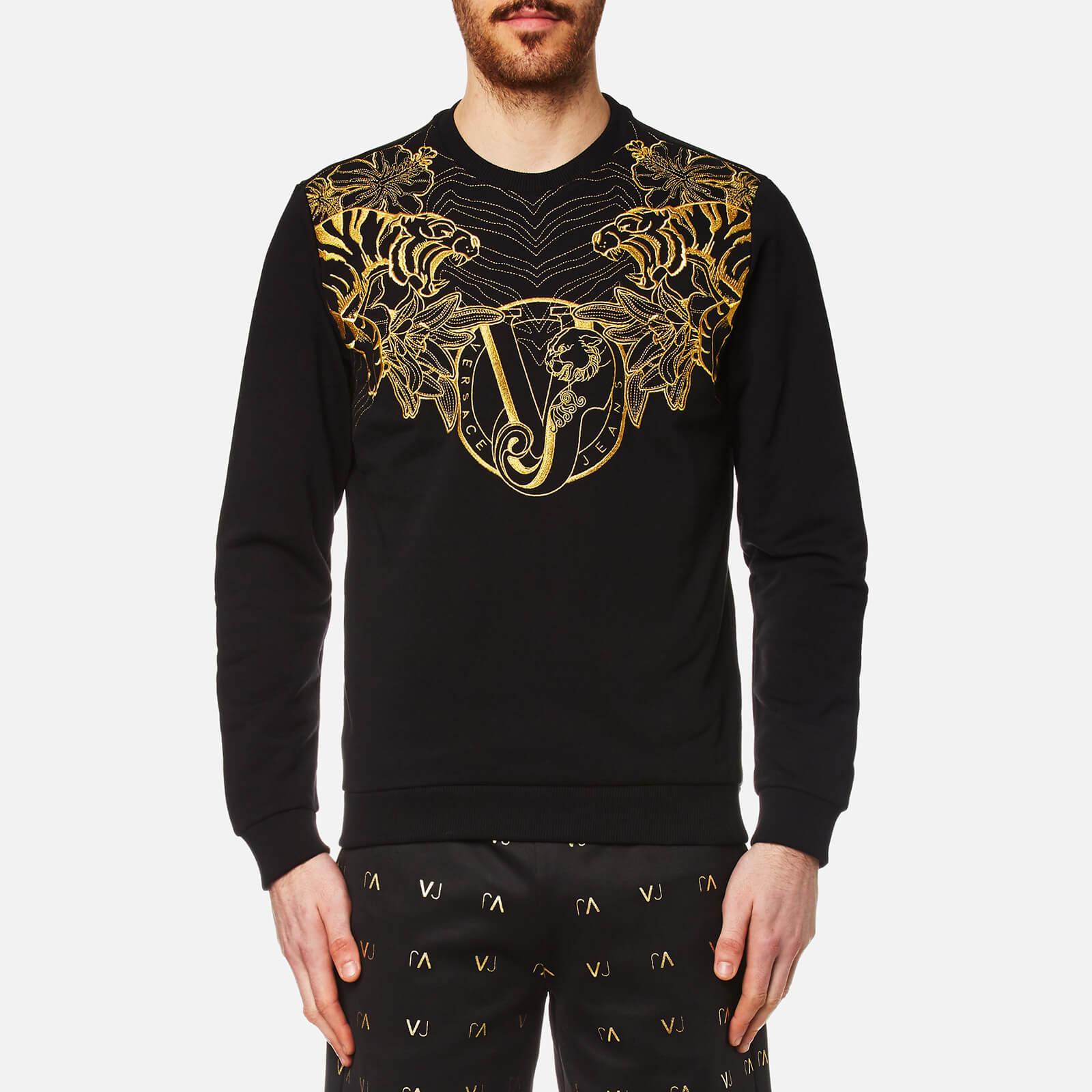 c56a6577213 Versace Jeans Men's VJ Logo Sweatshirt - Nero