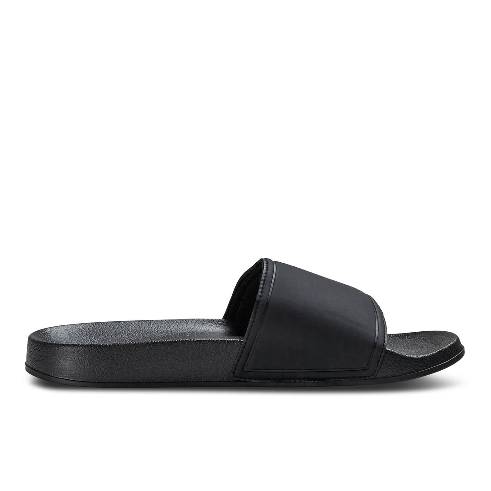 a6d9229114f6 Jack   Jones Men s Slider Sandals - Anthracite Mens Footwear