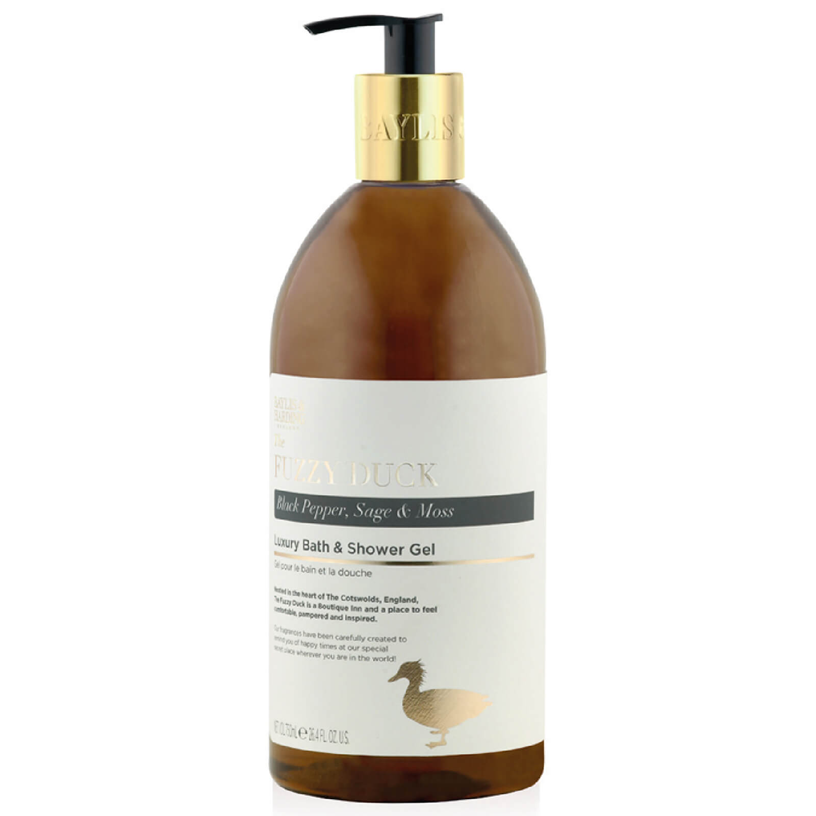 Baylis & Harding Fuzzy Duck Black Pepper, Sage & Moss 750ml Bottle Luxury Bath & Shower Gel