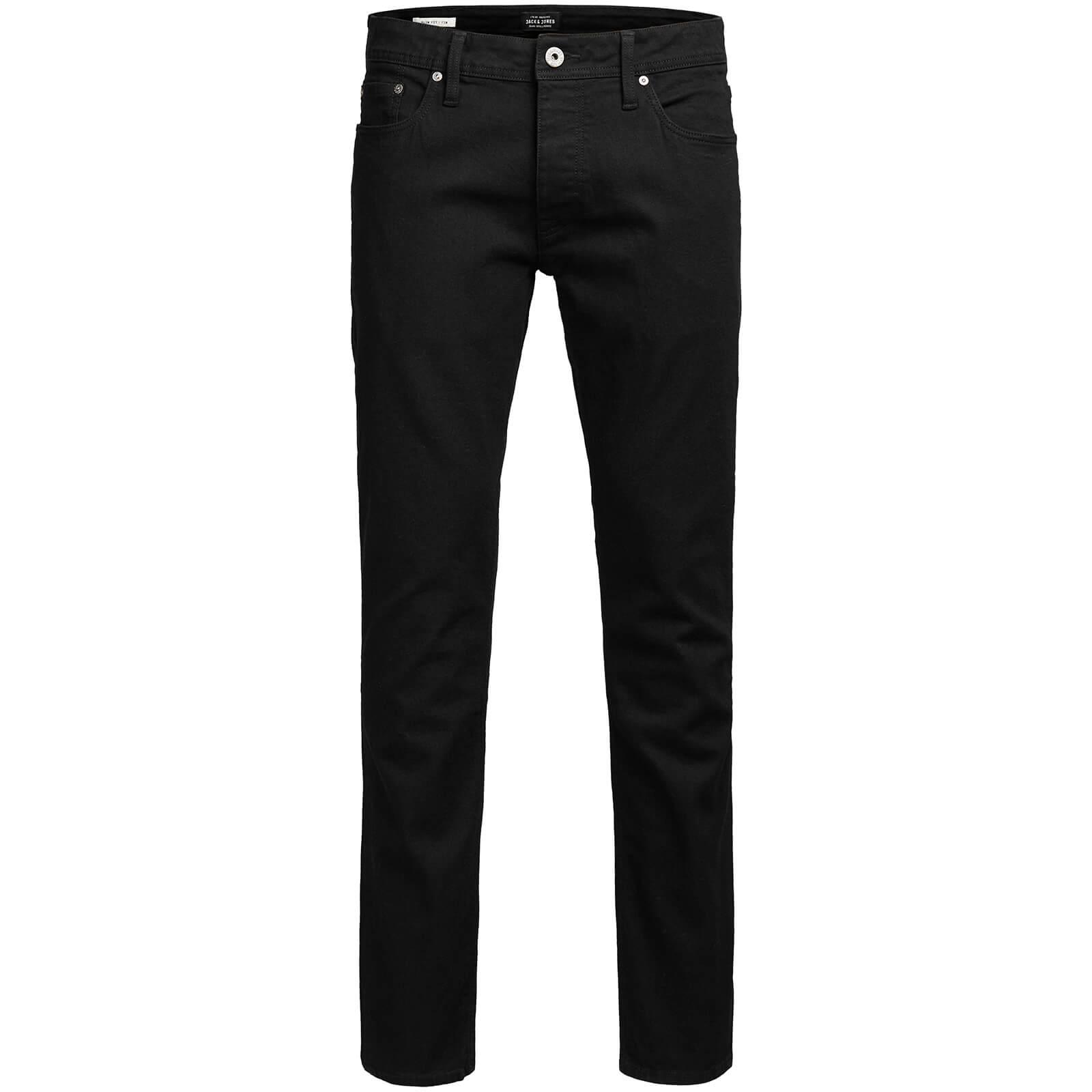 Jack   Jones Originals Men s Tim Slim Fit Jeans - Black Denim Mens ... 8ba7fdfcf37