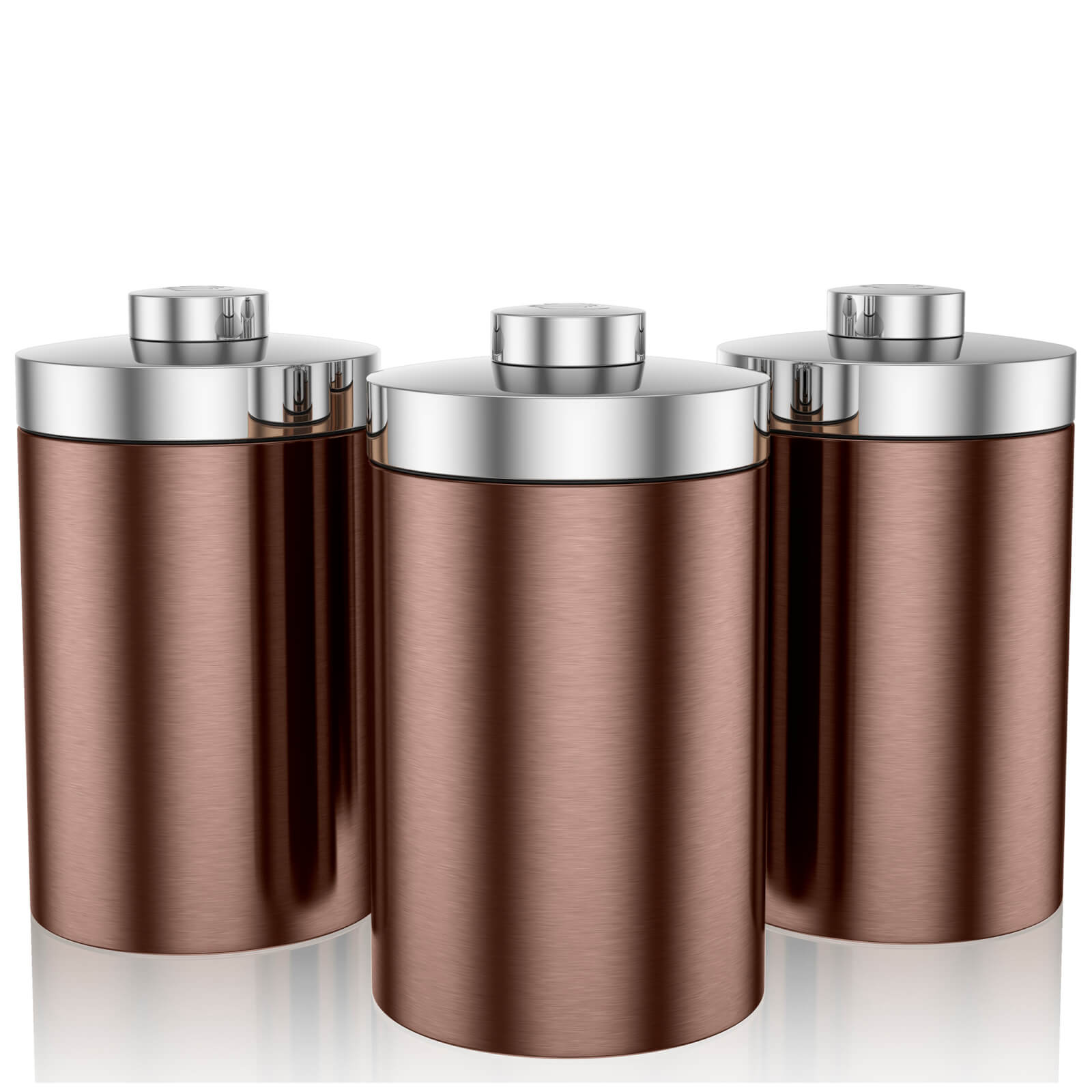 Swan Set of 3 Storage Canisters - Copper