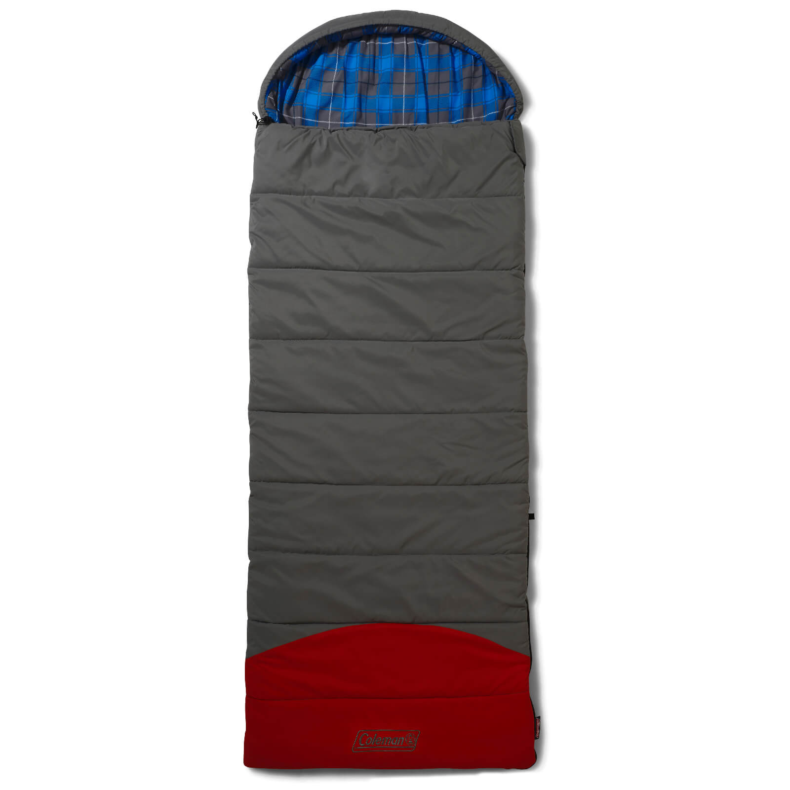Coleman Comfort Basalt Sleeping Bag - Grey/Red - Single