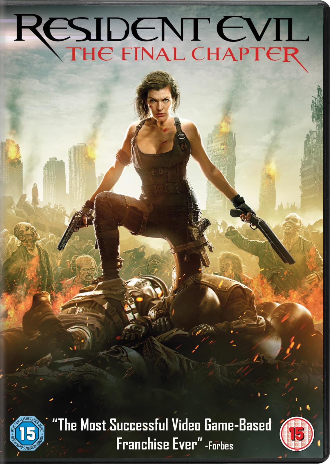 Resident Evil The Final Chapter Dvd