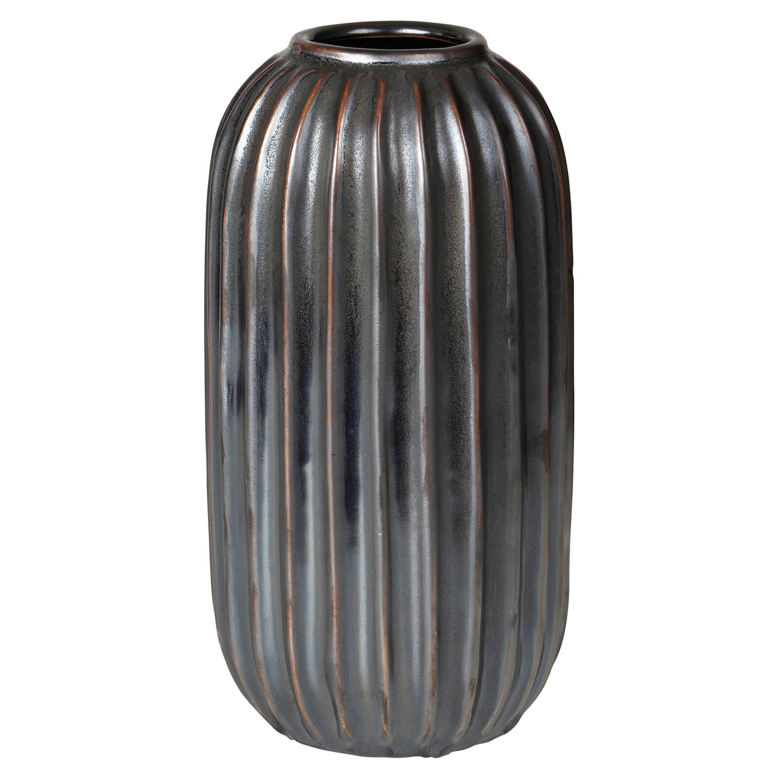 broste copenhagen lines stoneware vase iwoot. Black Bedroom Furniture Sets. Home Design Ideas