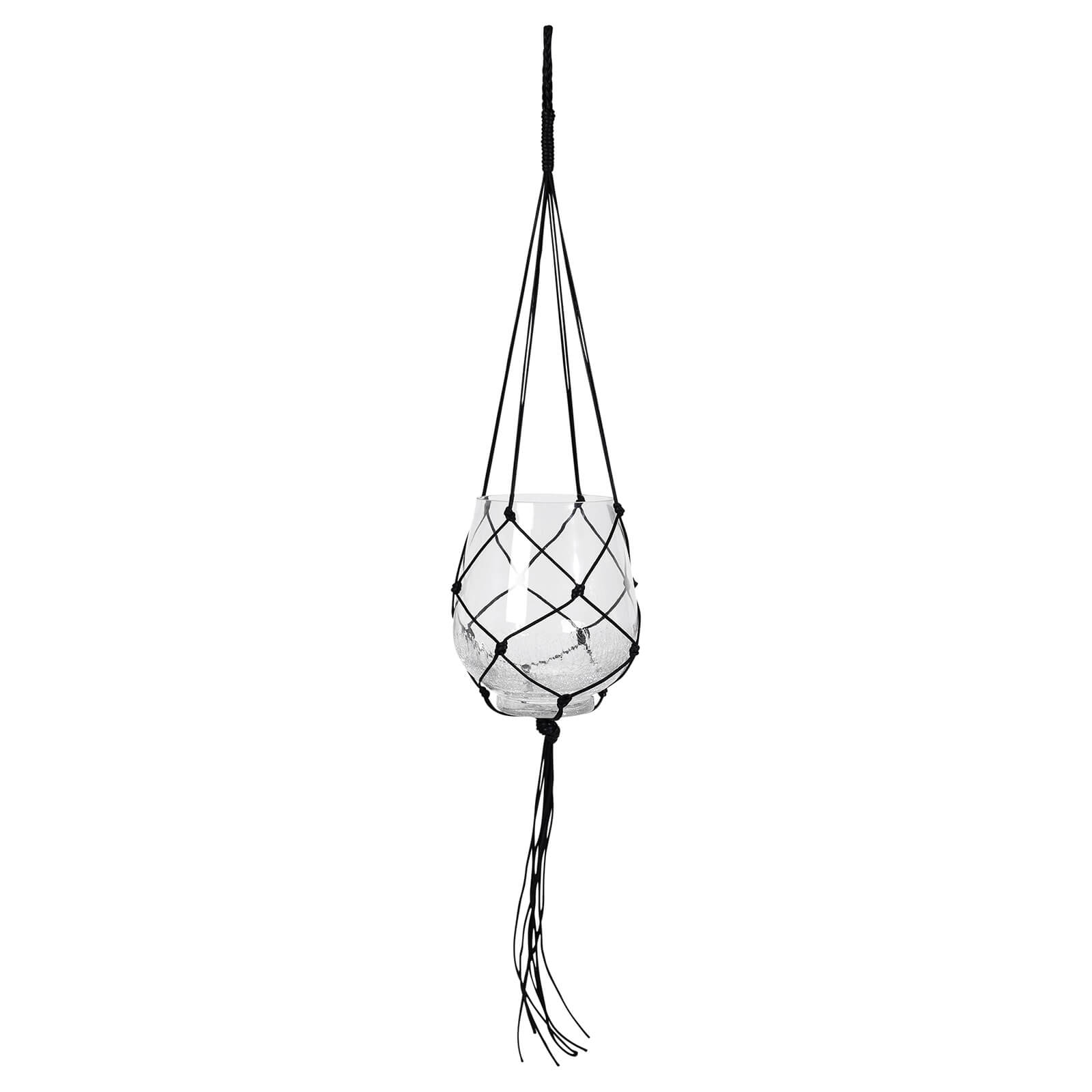 Broste Copenhagen Ibbi Hanging Planter with Rope - Large