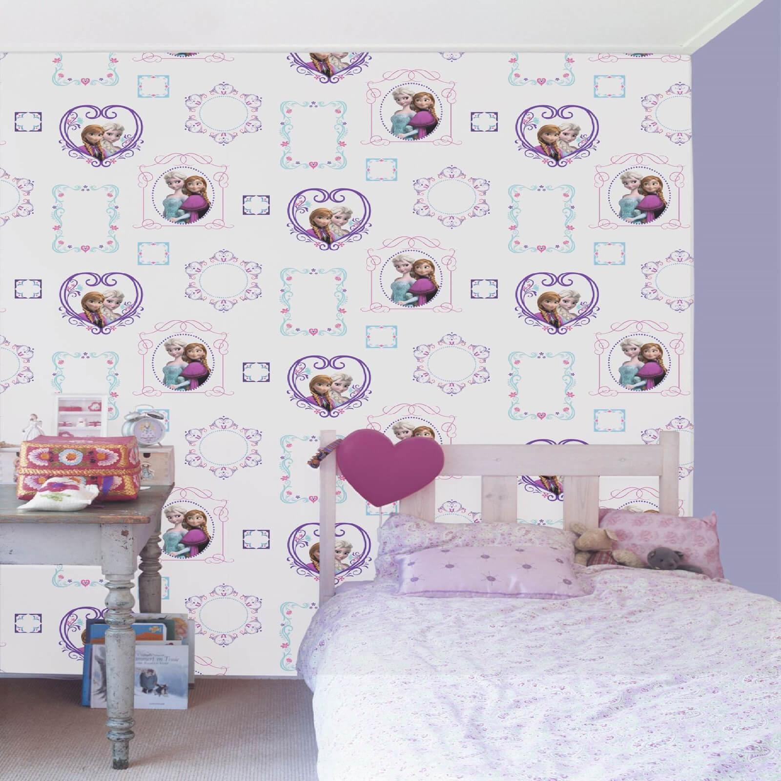 Disney Frozen Elsa & Anna Frames Wallpaper