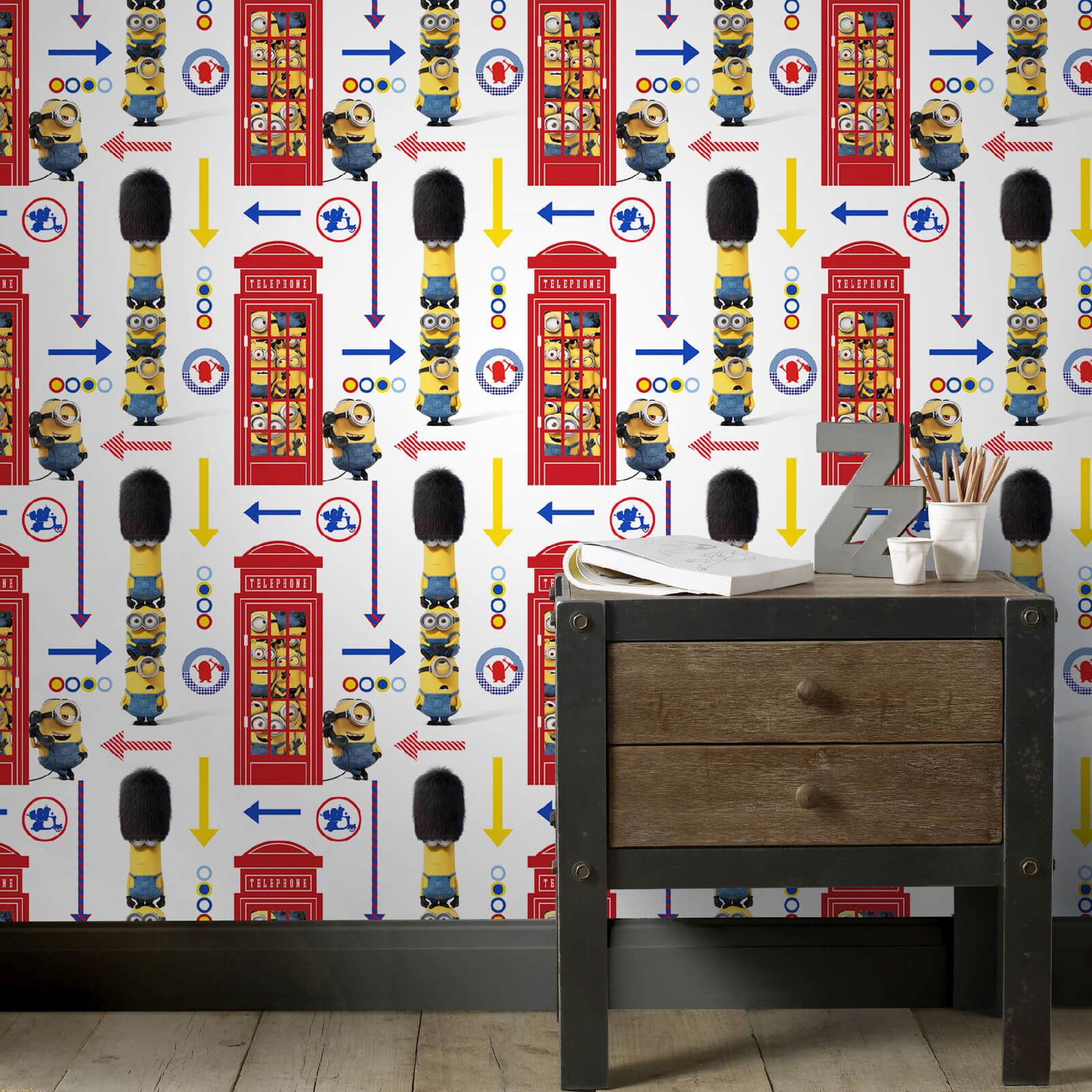 Universal Minions Despicable Me Hello London Multi Wallpaper