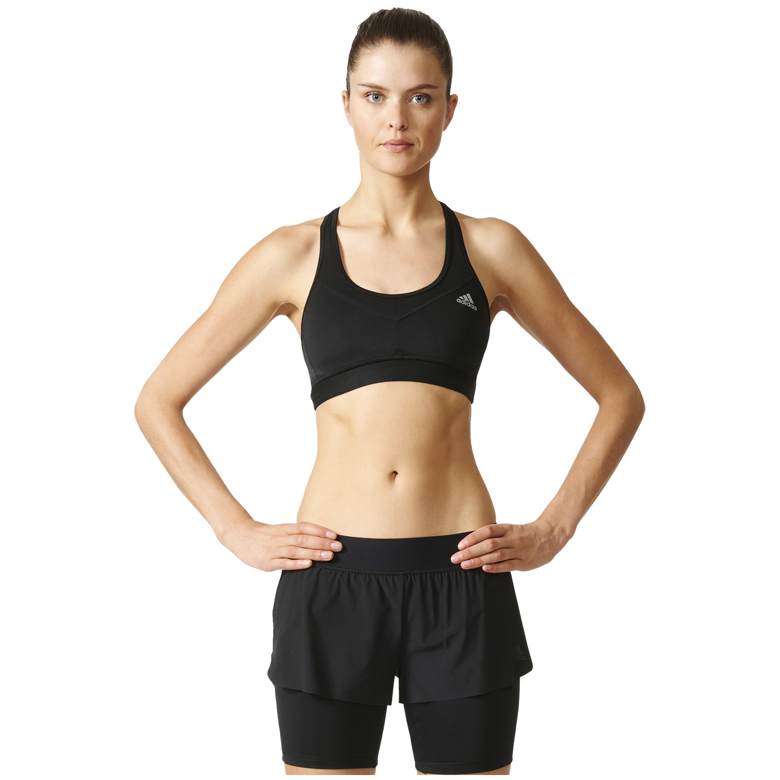 b1afd31d9b adidas Women s TechFit Medium Support Sports Bra - Black Matte Silver