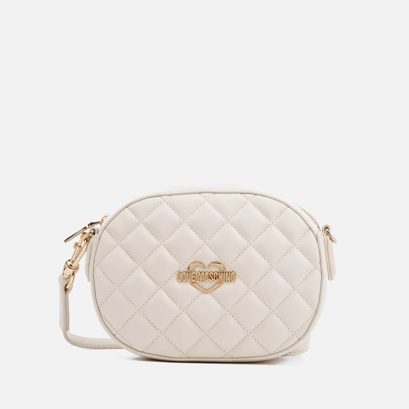 964502ec Love Moschino Women's Quilted Round Small Cross Body Bag - Ivory