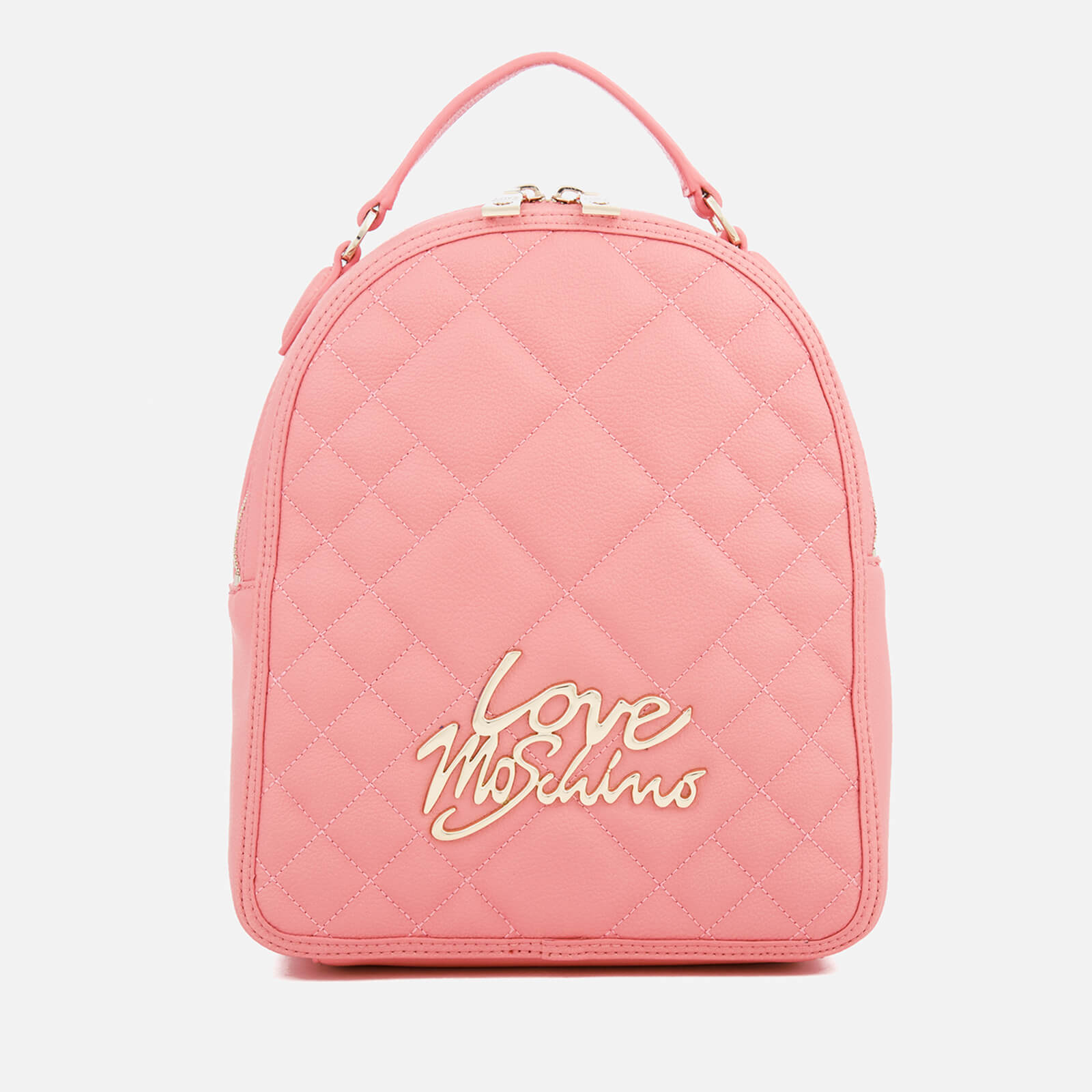 dfda0df4e1 Love Moschino Women's Matt Quilted Backpack - Pink - Free UK Delivery over  £50