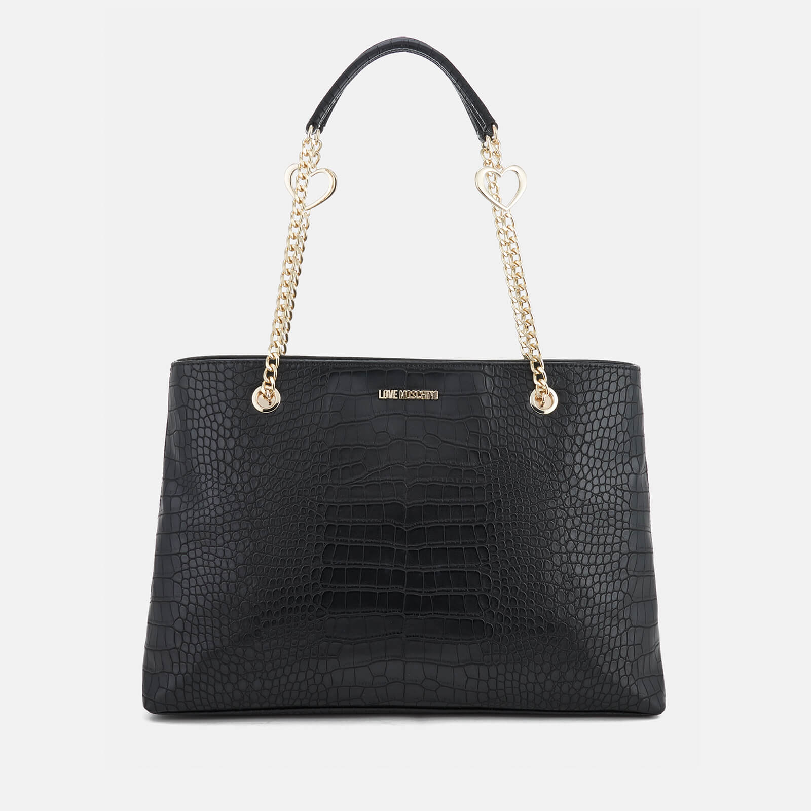 c1b5d1f2cf Love Moschino Women's Croc Shopper Tote Bag - Black - Free UK Delivery over  £50
