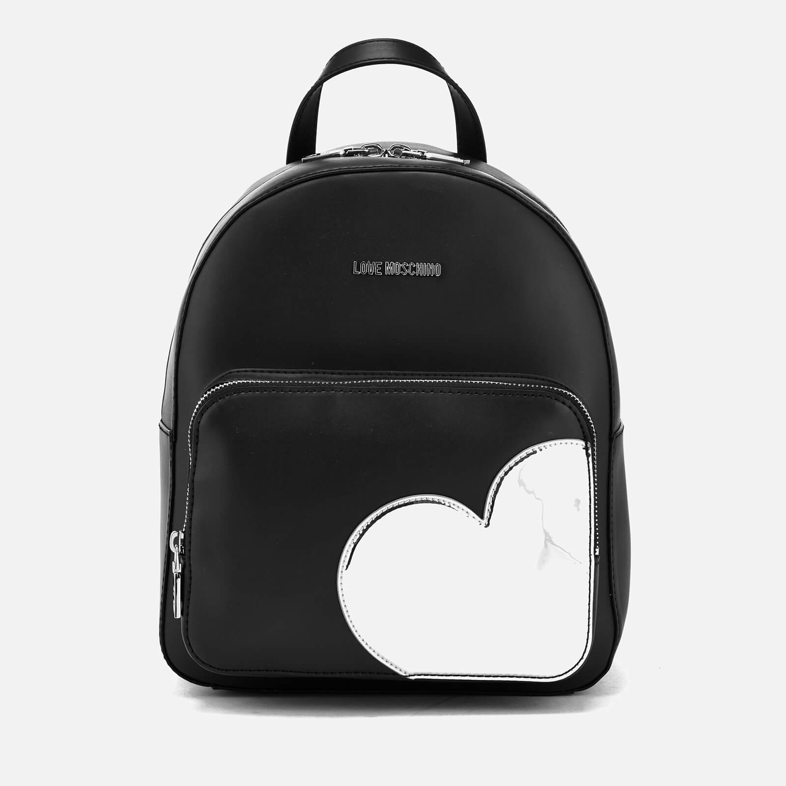 c99638e27b7be Love Moschino Women s Mirror Heart Backpack - Black - Free UK Delivery over  £50