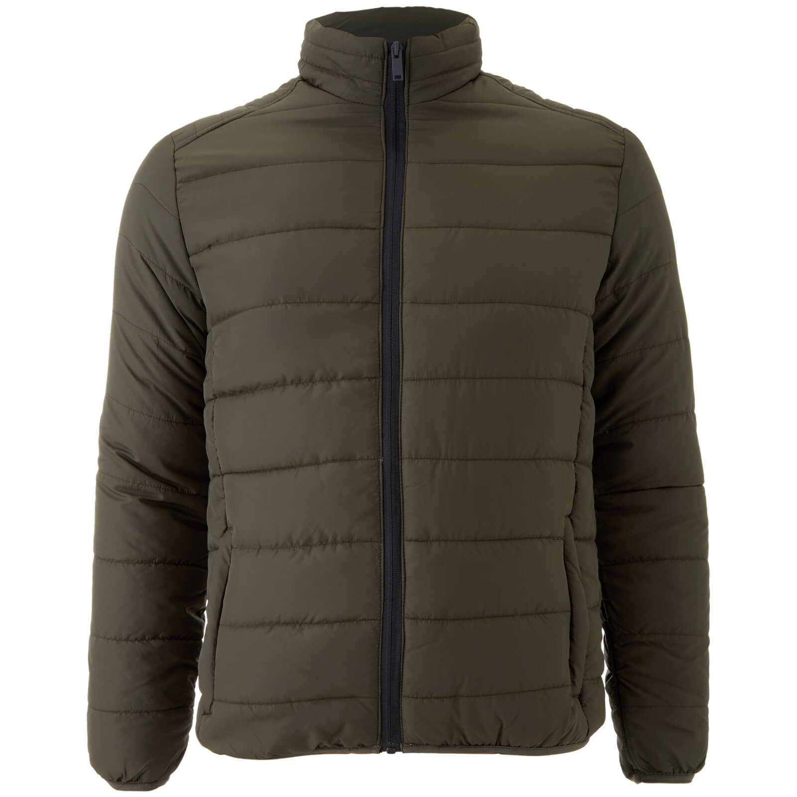 c9c21341f Brave Soul Men s Moritz Padded Jacket - Khaki Clothing