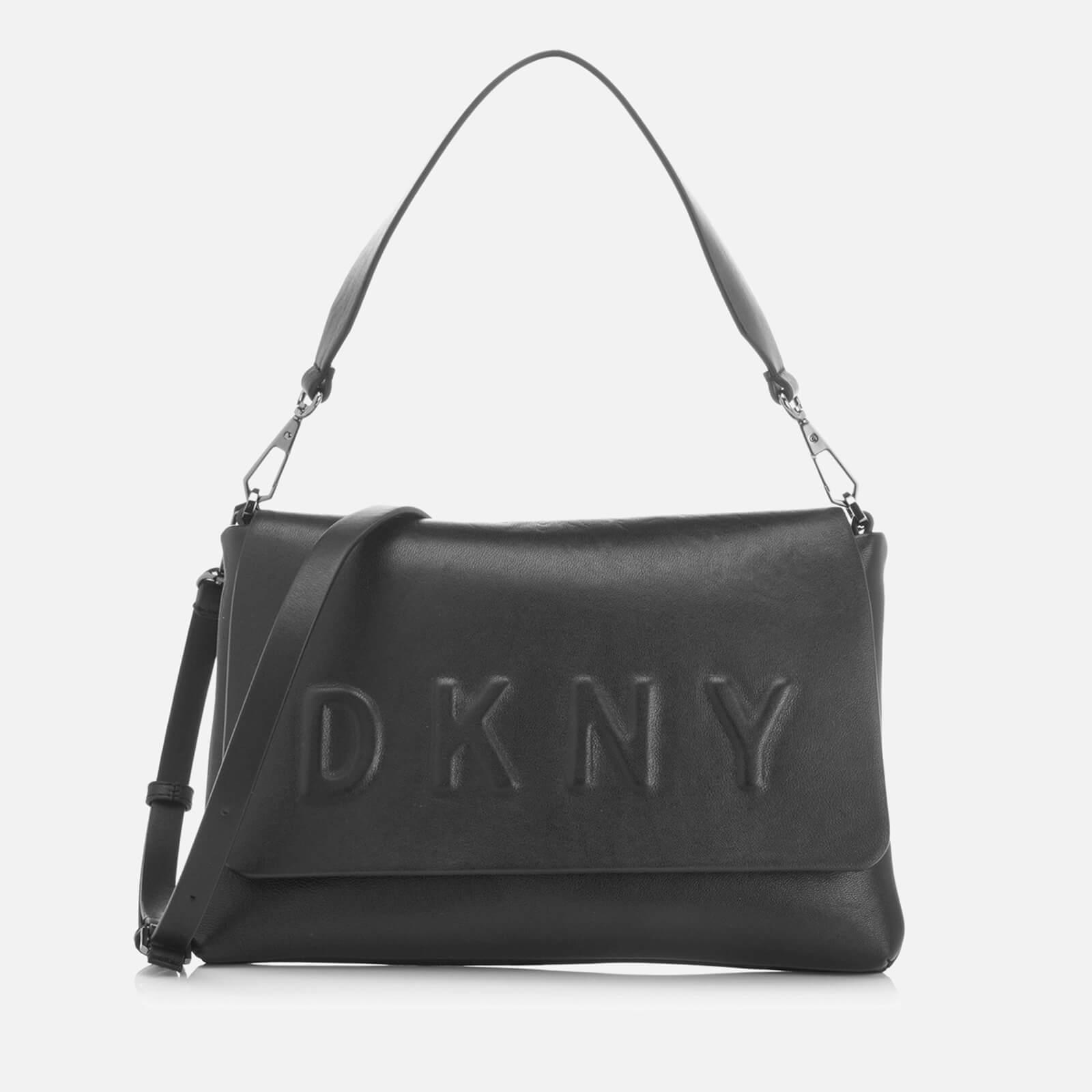 DKNY Women's Flap Shoulder Bag Black