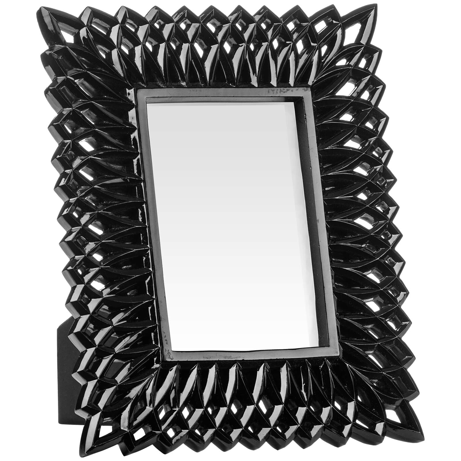 Swirl Photo Frame 4 x 6 - Black High Gloss