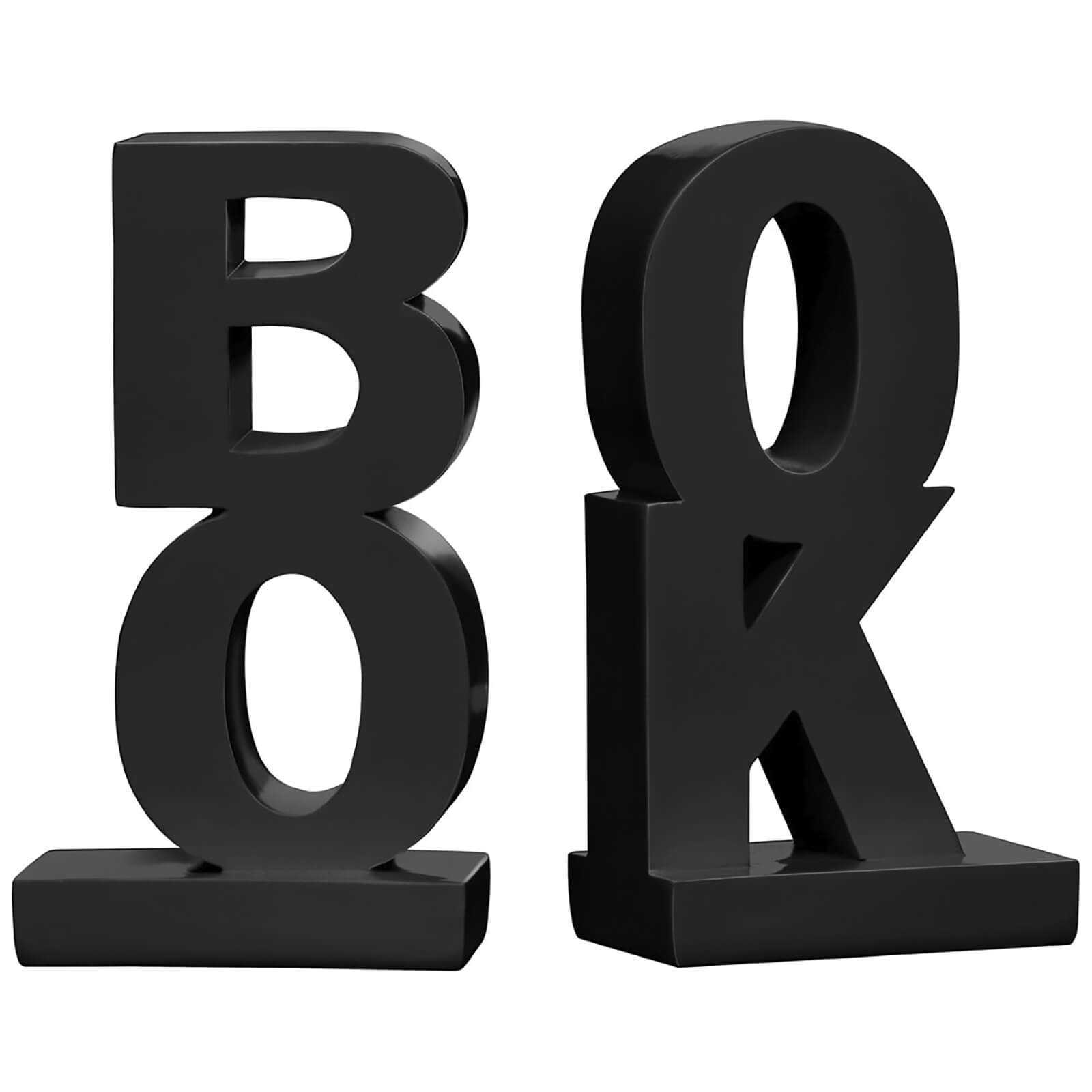 BOOK High Gloss Bookends (Set of 2) - Black