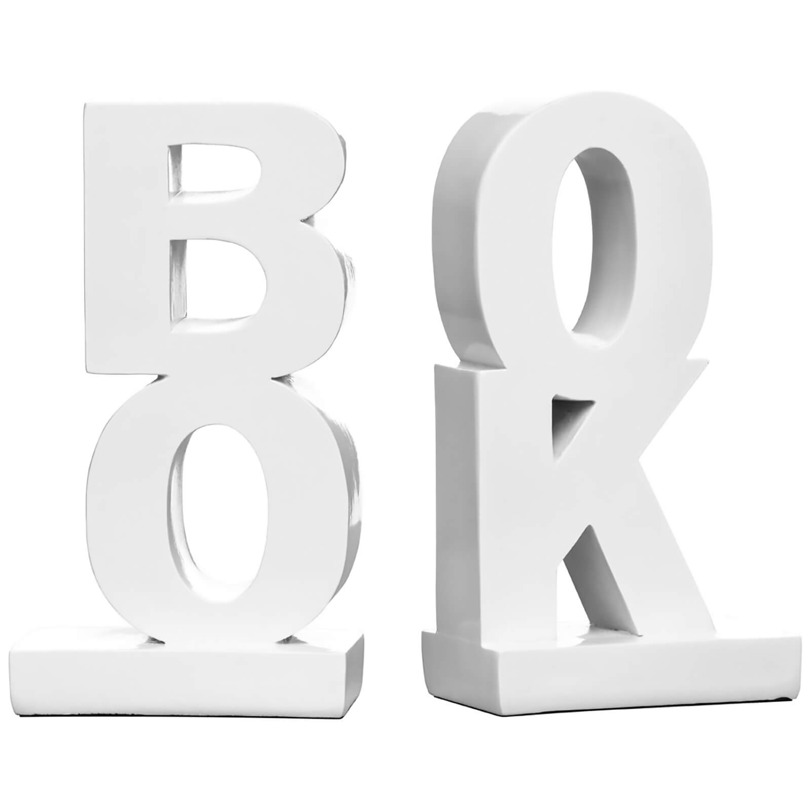 BOOK High Gloss Bookends (Set of 2) - White