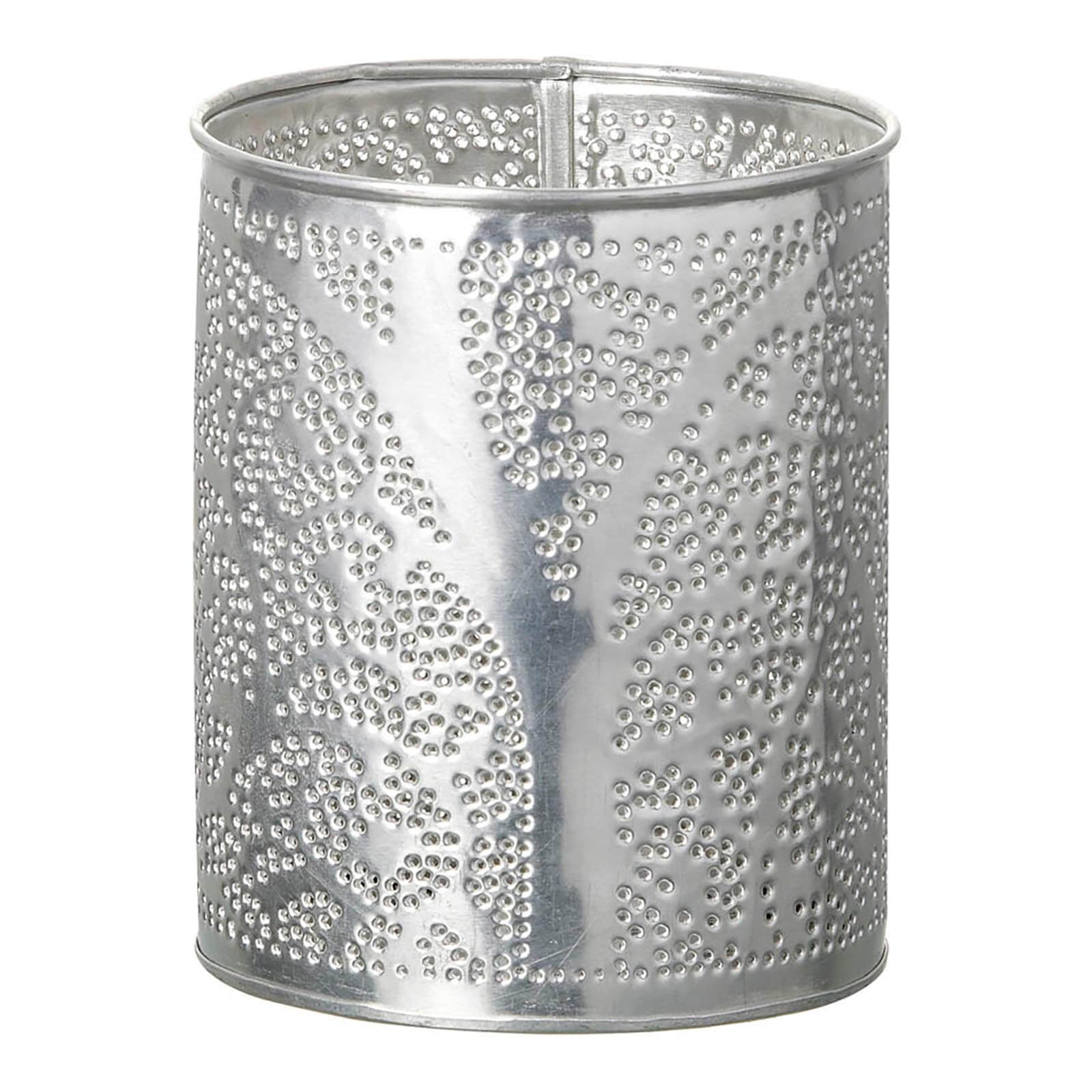 Parlane Novita Metal Tealight Holder - Silver (11 x 9cm)