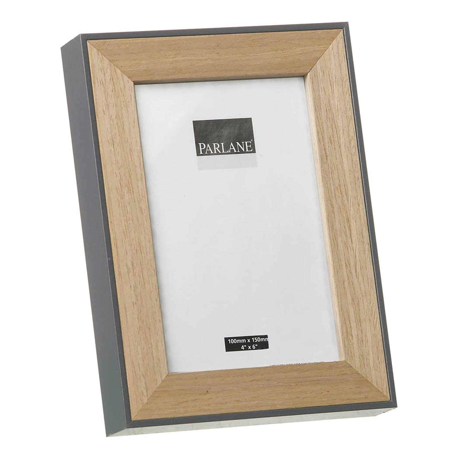 Parlane Oundle Wooden Frame - Natural/Grey (19.5 x 14.5cm)