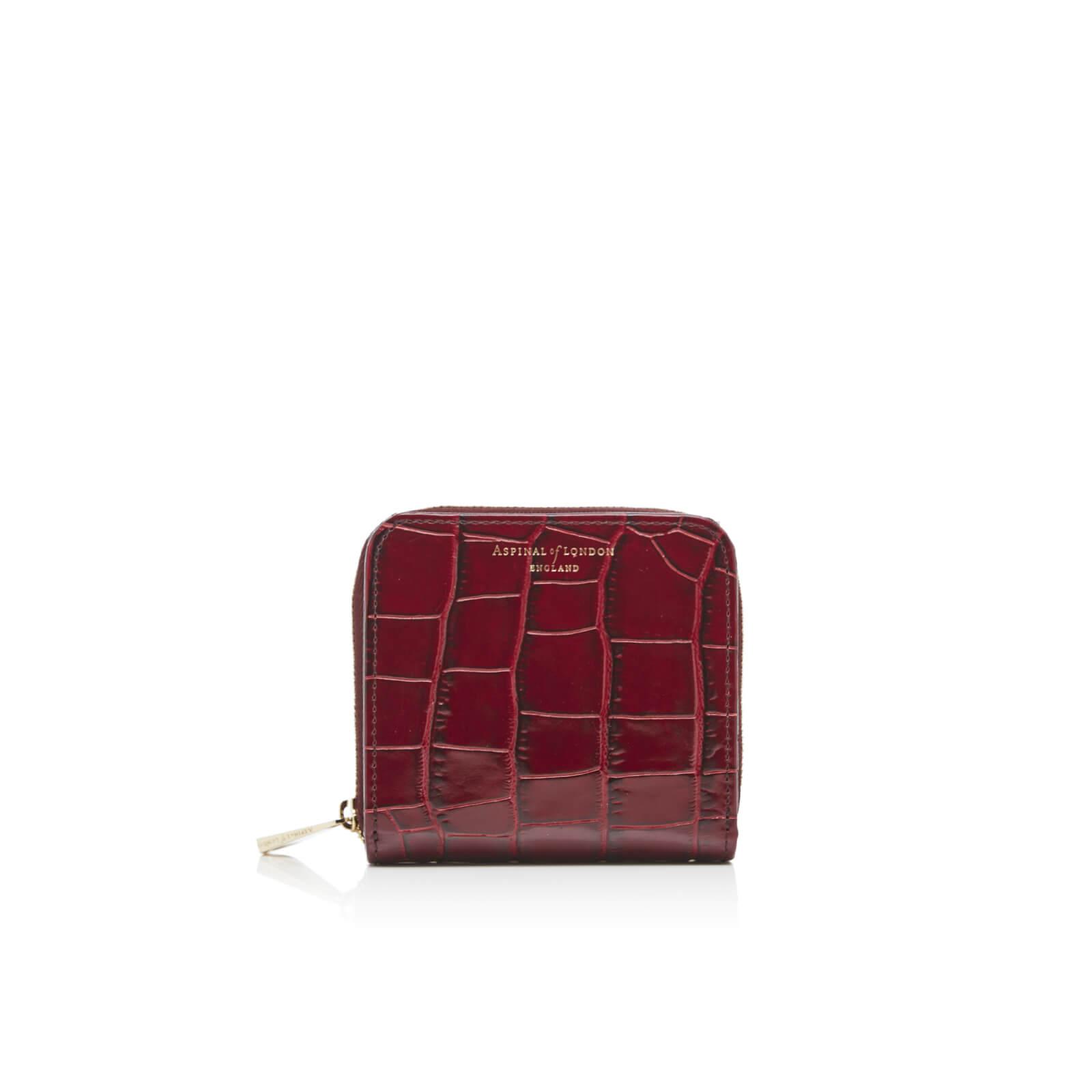 d7cbe3a435ba Aspinal of London Women s Continental Mini Wallet - Bordeaux - Free ...