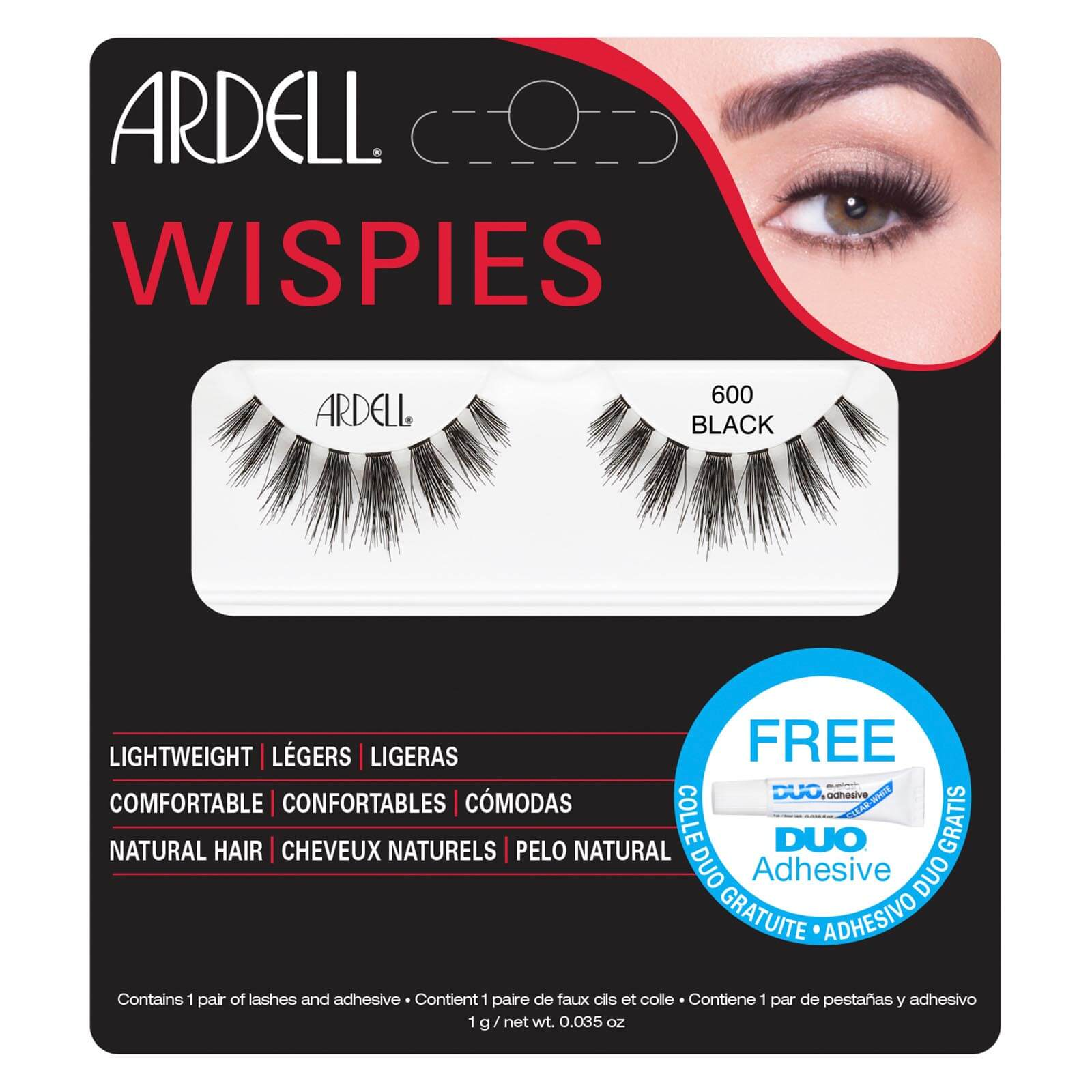 2a8ced619d3 Ardell Wispies Cluster False Eyelashes - 600 Black | Free Shipping |  Lookfantastic