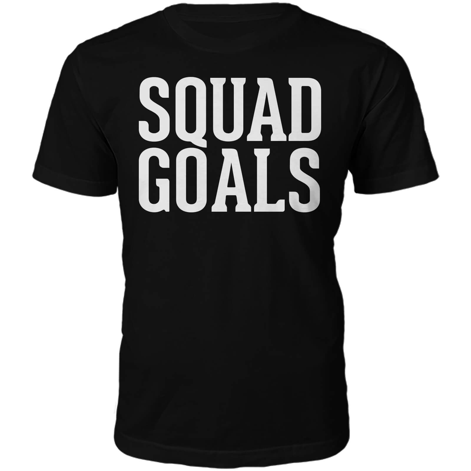 Squad Goals Slogan T-Shirt - Black