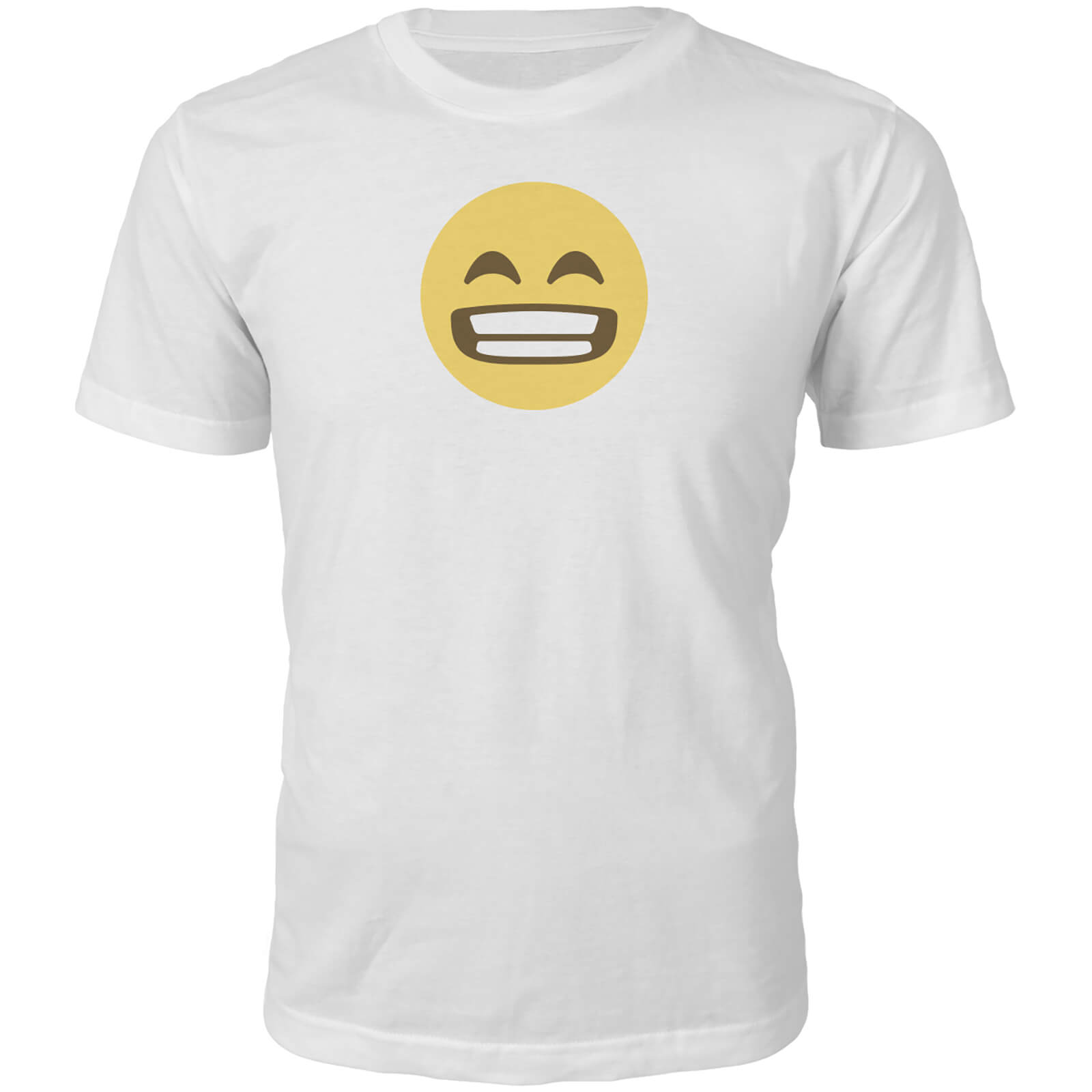 Emoji Unisex Wide Grin T-Shirt - White