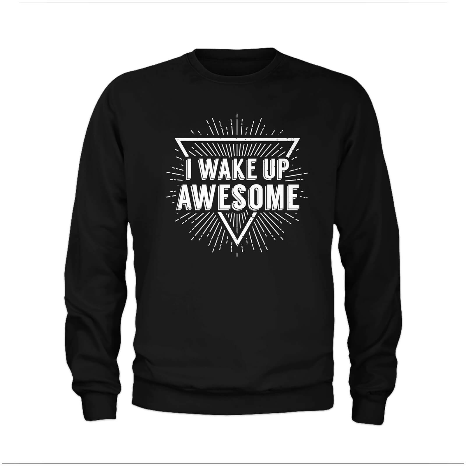 Sweat Homme I Wake Up Awesome - Noir