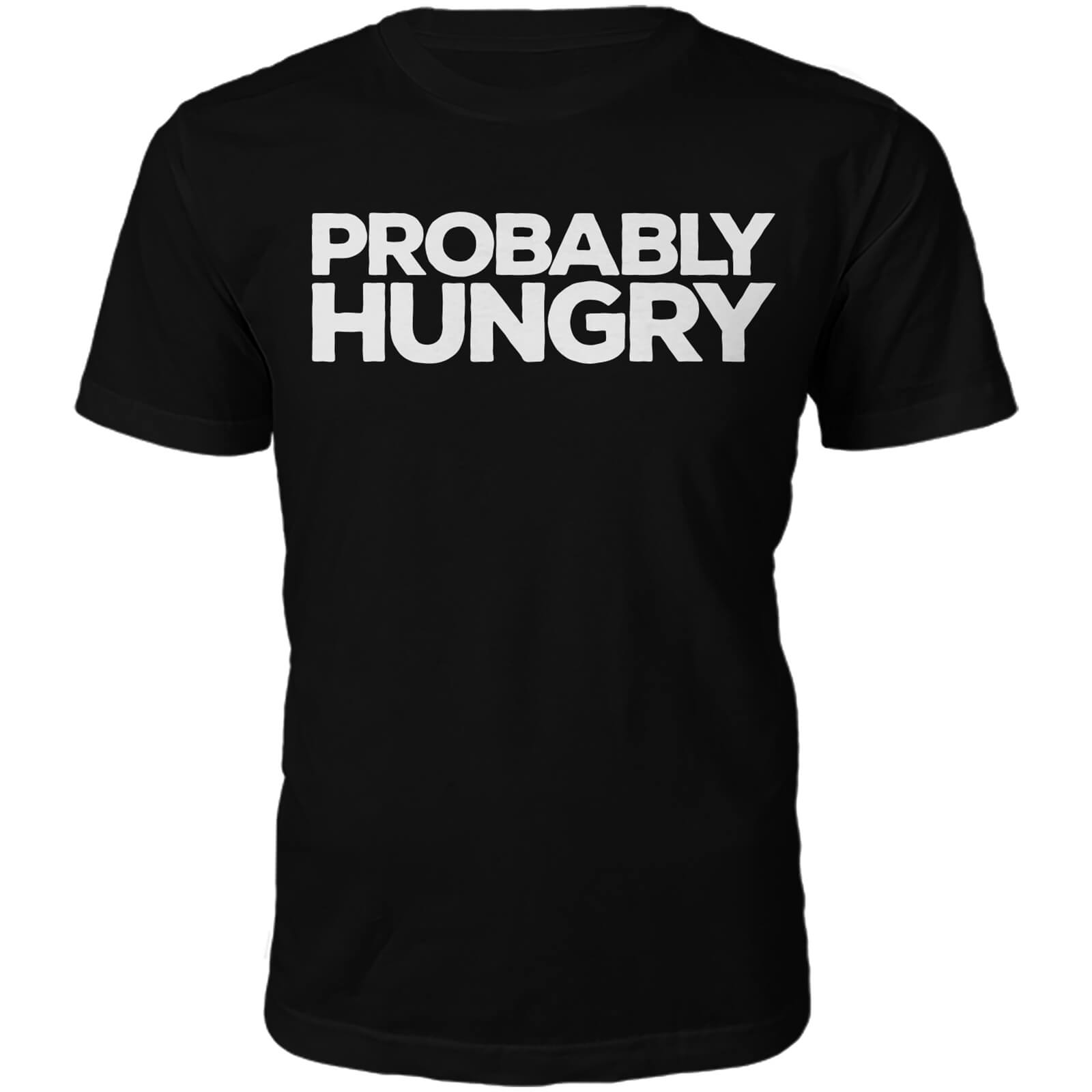 "Camiseta ""Probably Hungry"" - Hombre - Negro"