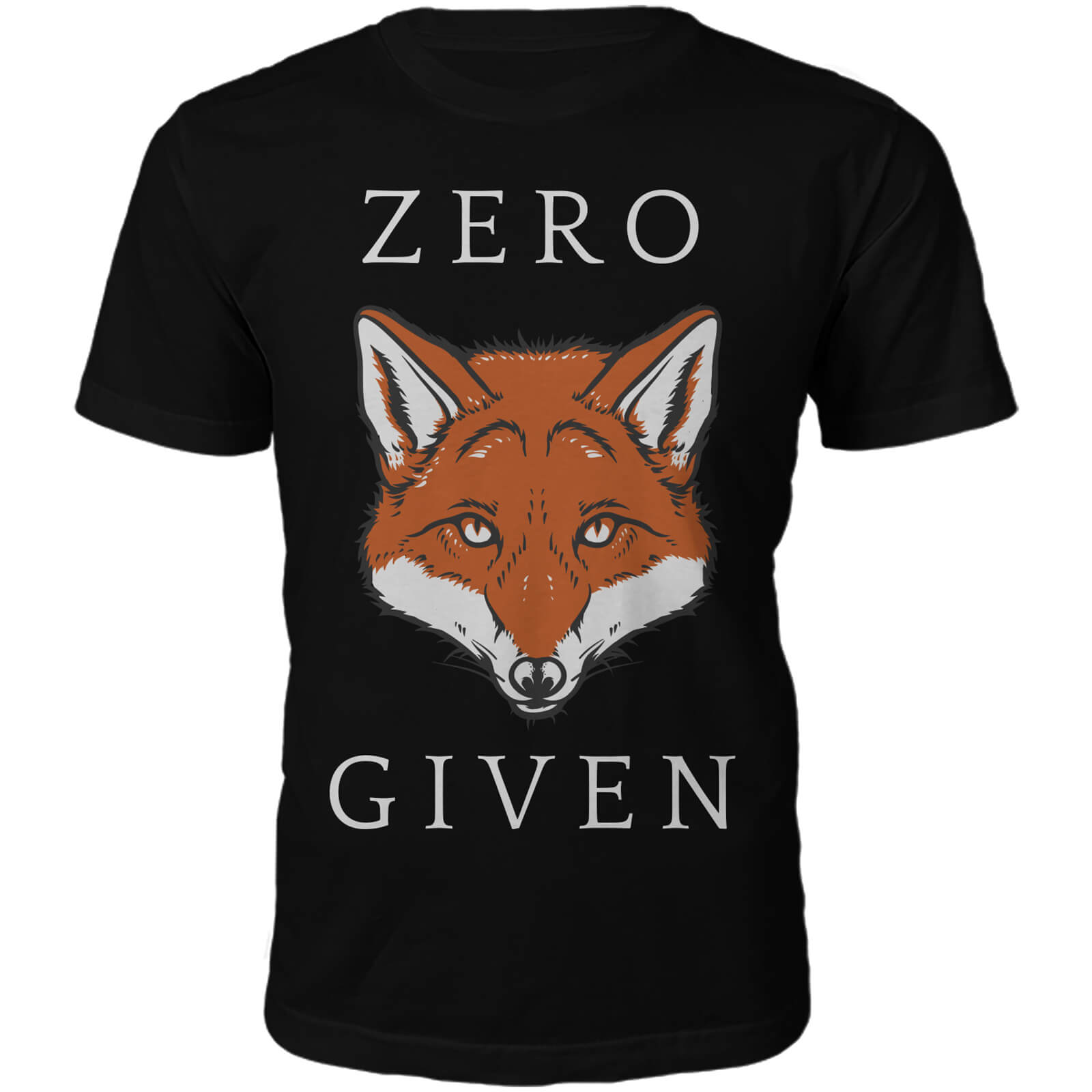 Zero Fox Given Slogan T-Shirt - Black