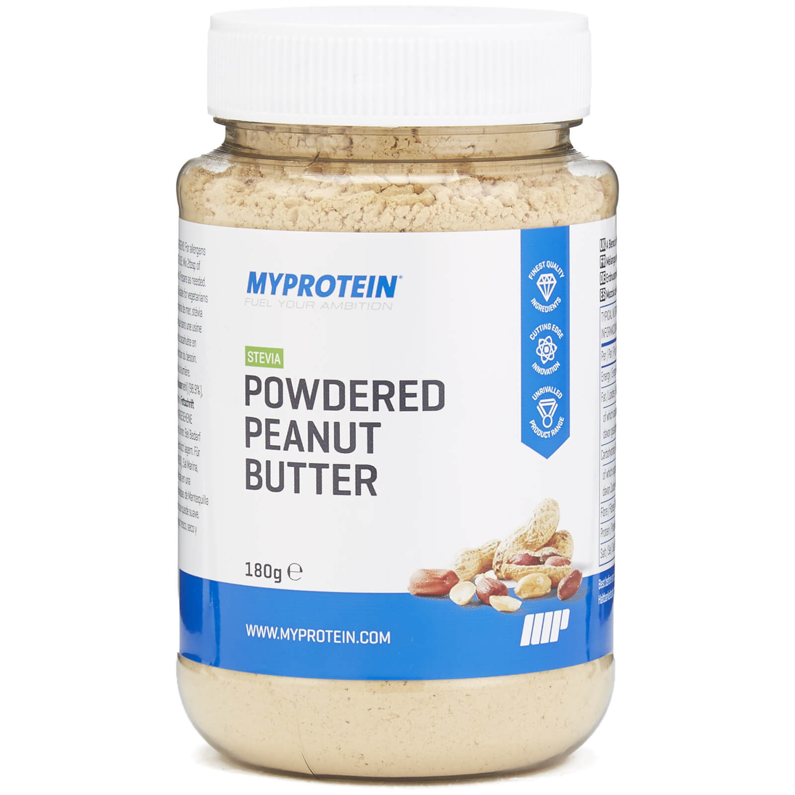 Powdered Peanut Butter - Stevia - 180g