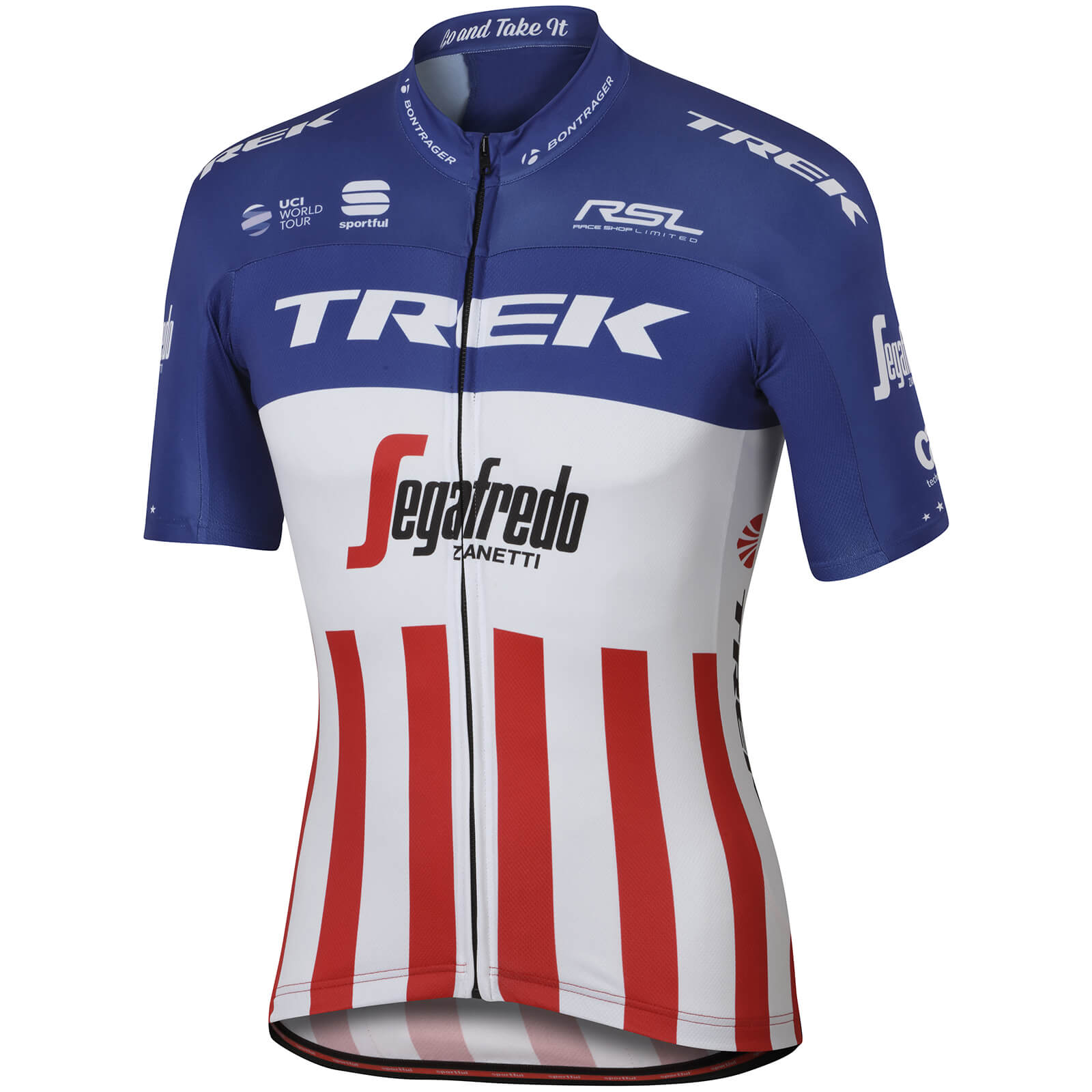 Sportful Trek-Segafredo BodyFit Pro Team USA Champion Short Sleeve Jersey -  White Blue Red  9617af254