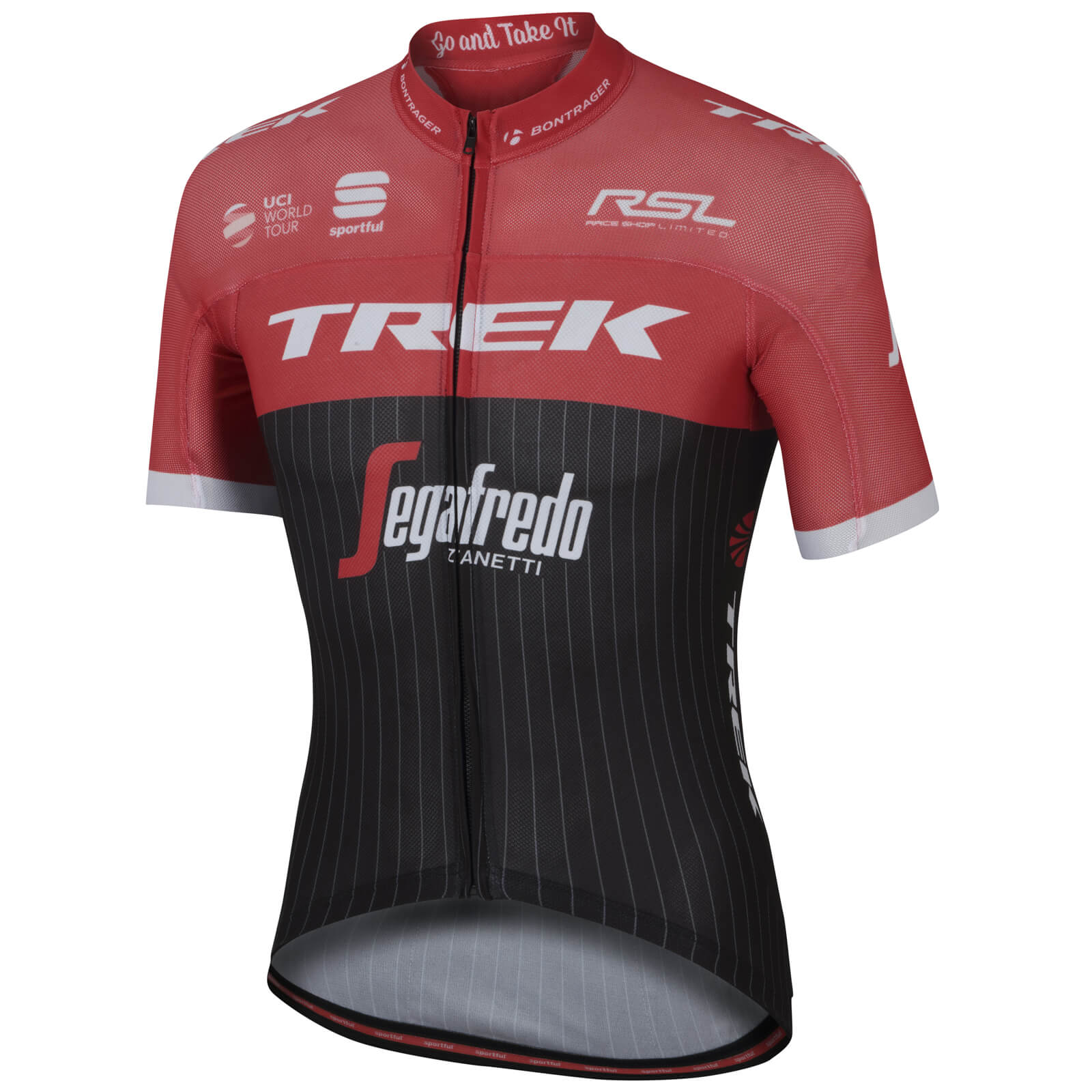 Sportful Trek-Segafredo BodyFit Pro Ultralight Short Sleeve Jersey - Black/Red/White
