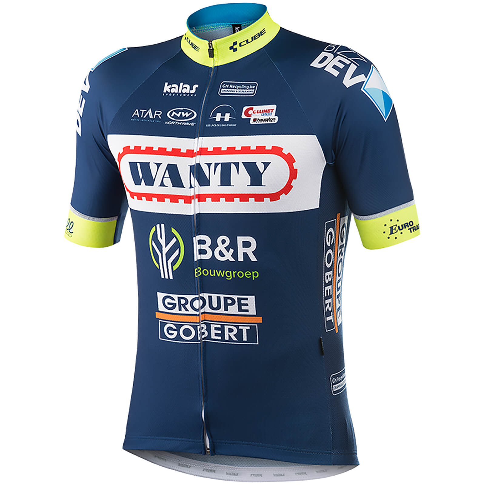 Kalas Wanty Groupe Gobert Replica Team Short Sleeve Jersey ... 1515167ad