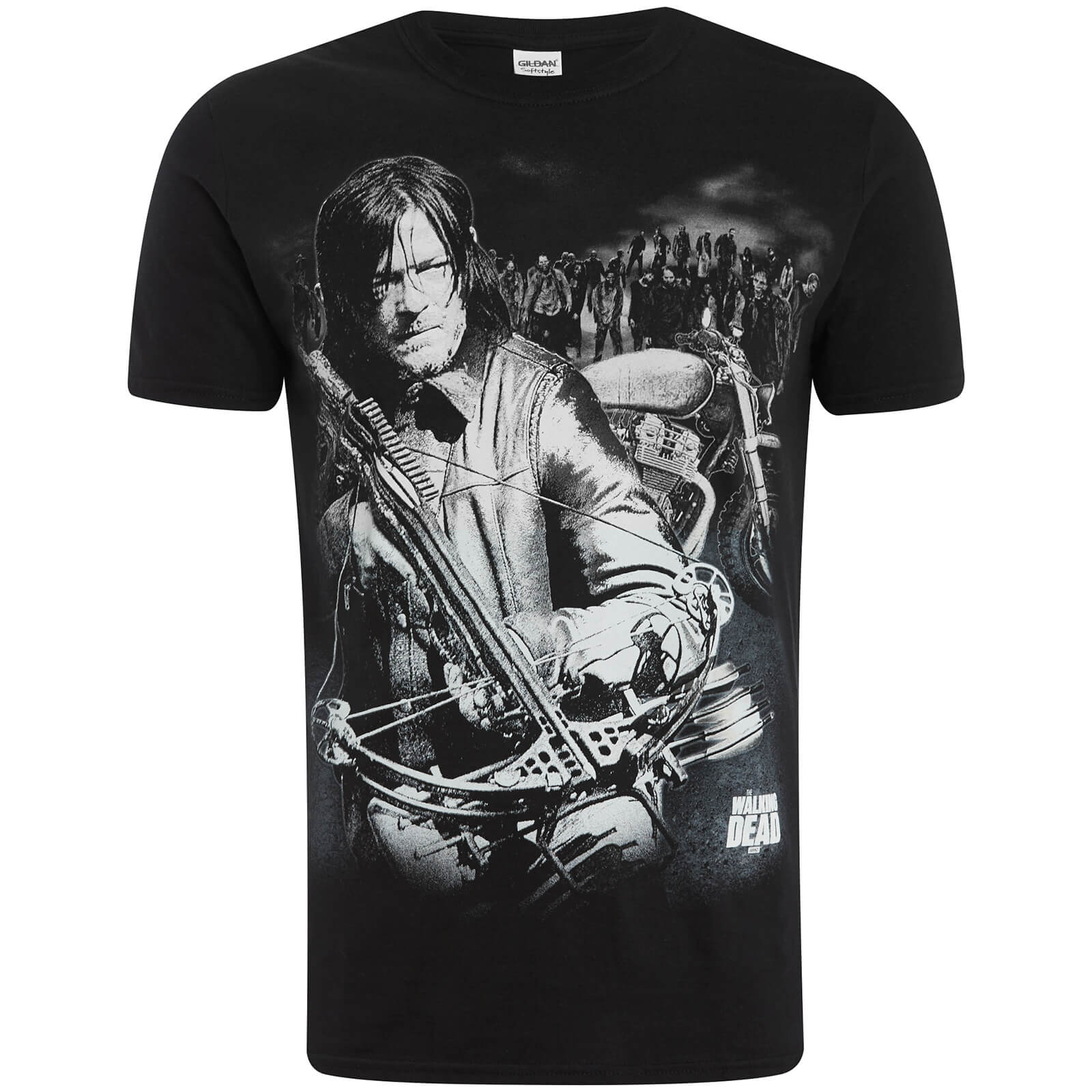 T-Shirt Homme Walking Dead Dixon Crossbow - Noir